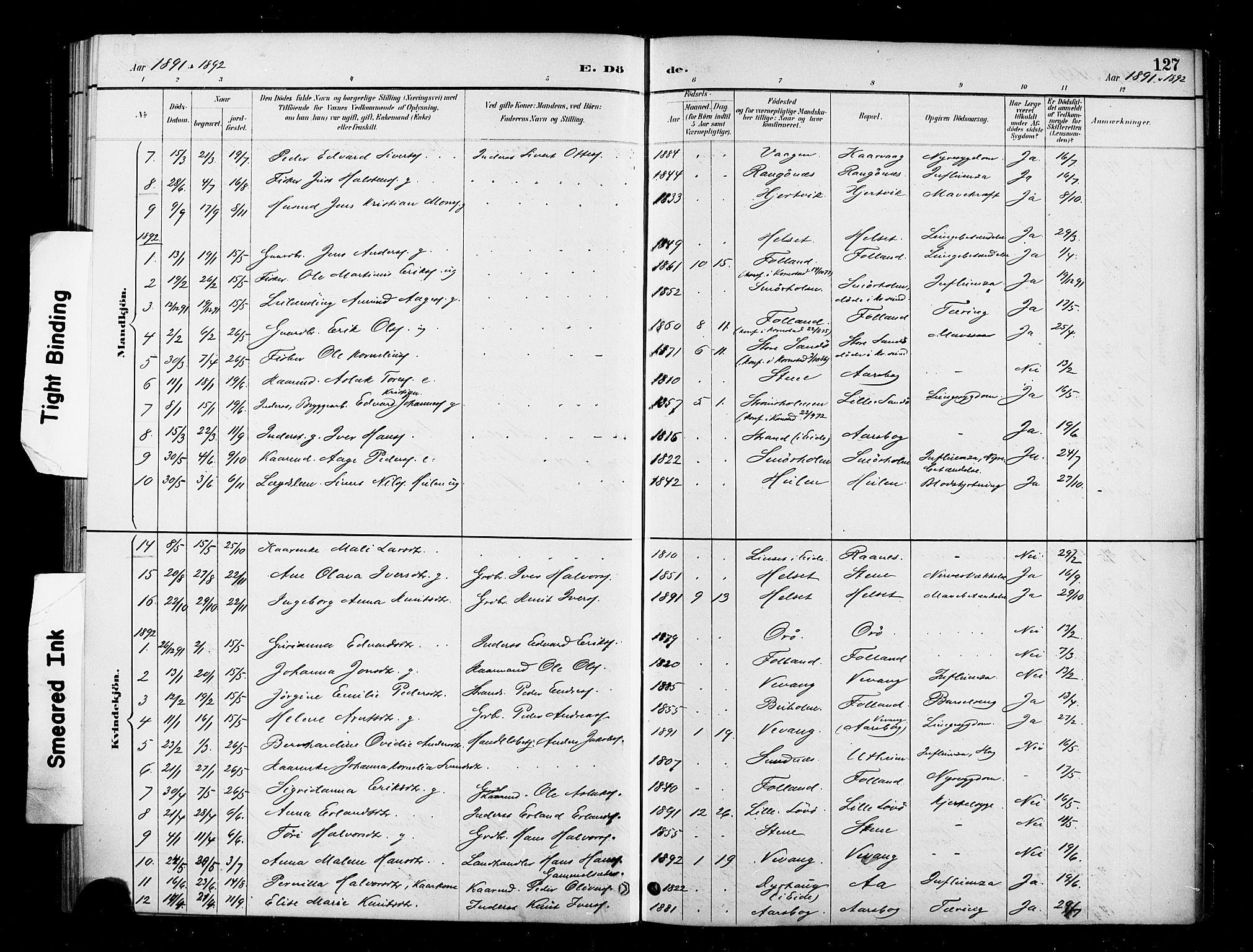 SAT, Ministerialprotokoller, klokkerbøker og fødselsregistre - Møre og Romsdal, 570/L0832: Ministerialbok nr. 570A06, 1885-1900, s. 127
