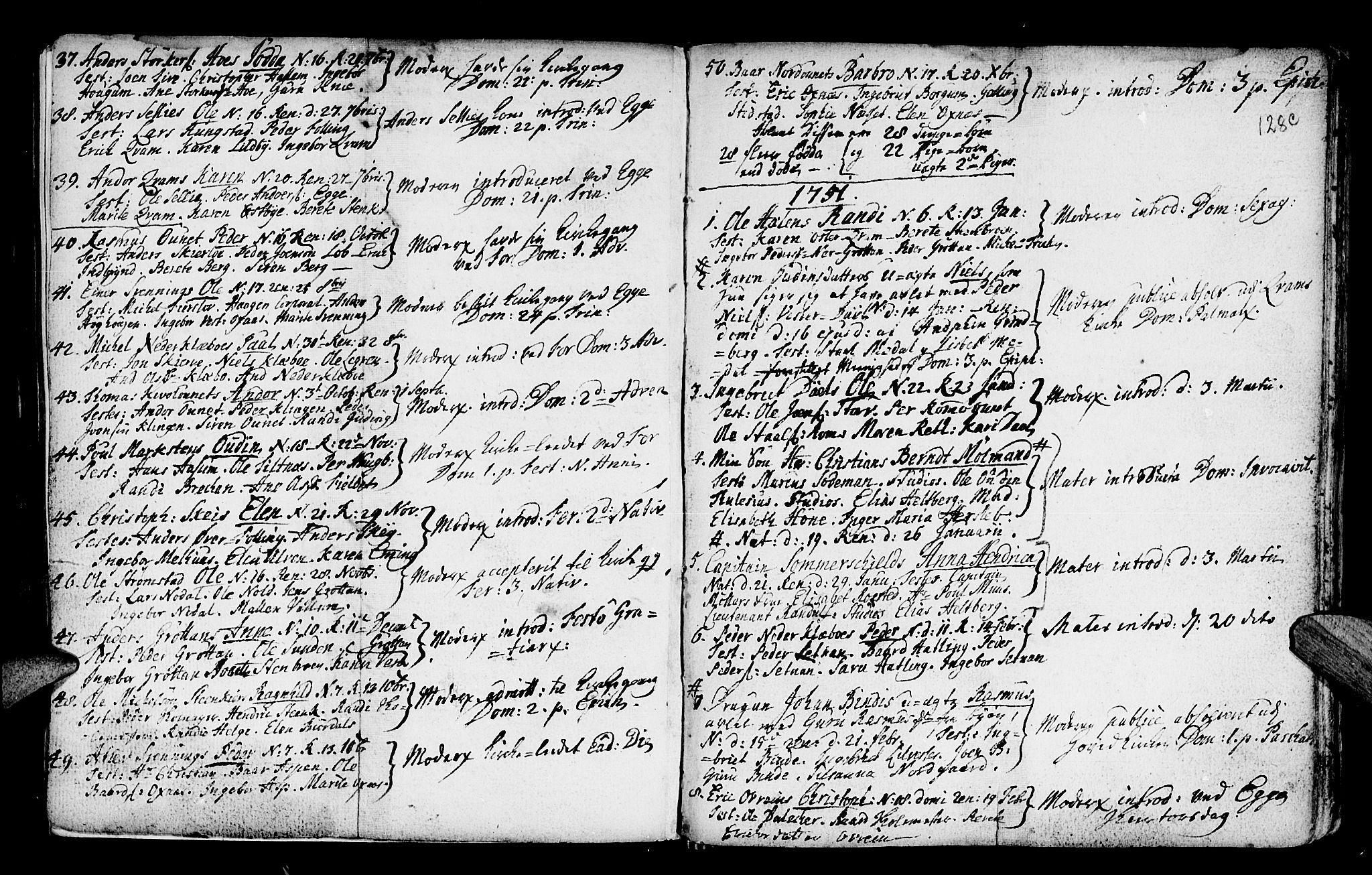 SAT, Ministerialprotokoller, klokkerbøker og fødselsregistre - Nord-Trøndelag, 746/L0439: Ministerialbok nr. 746A01, 1688-1759, s. 128c