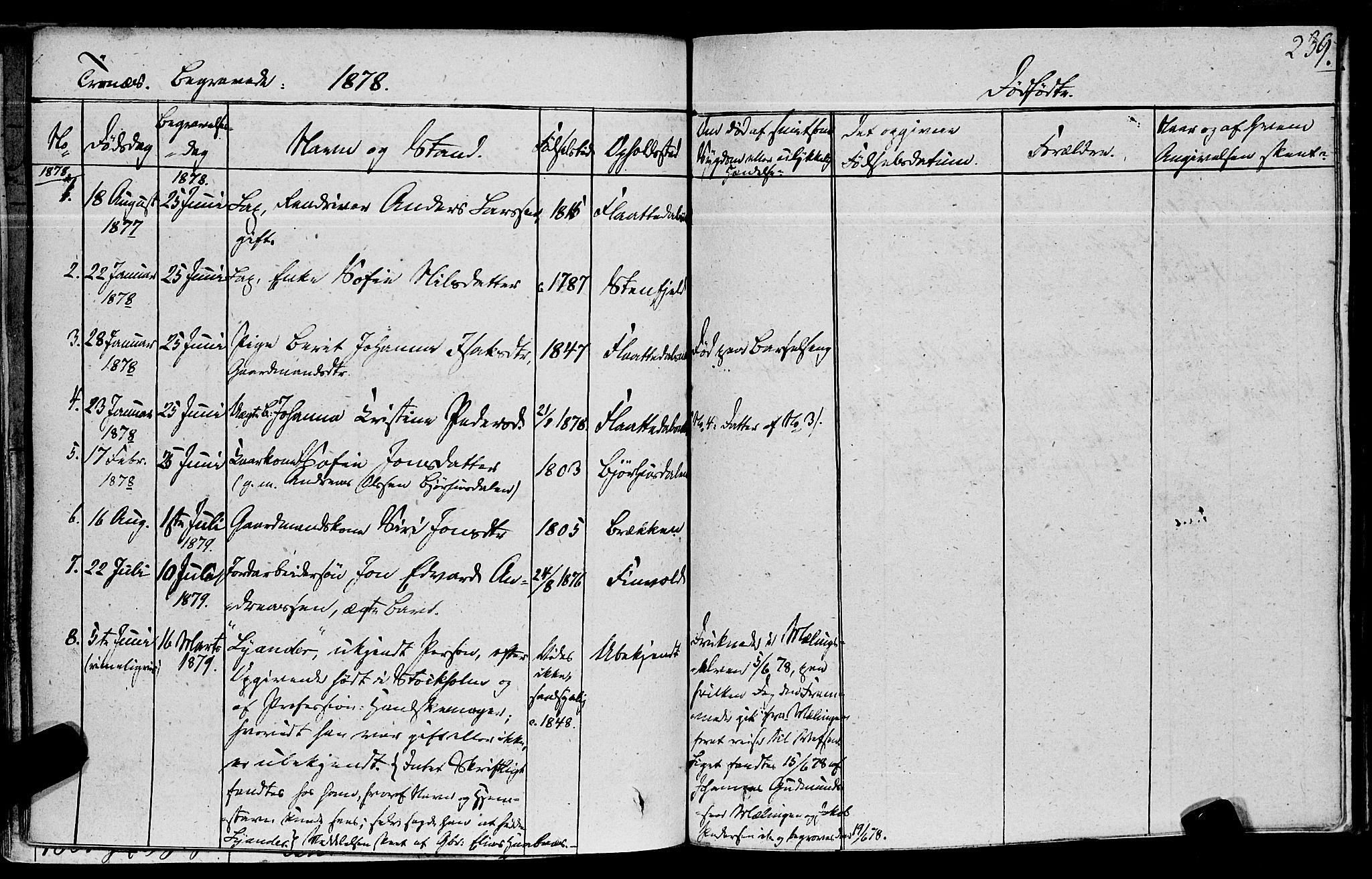 SAT, Ministerialprotokoller, klokkerbøker og fødselsregistre - Nord-Trøndelag, 762/L0538: Ministerialbok nr. 762A02 /2, 1833-1879, s. 239