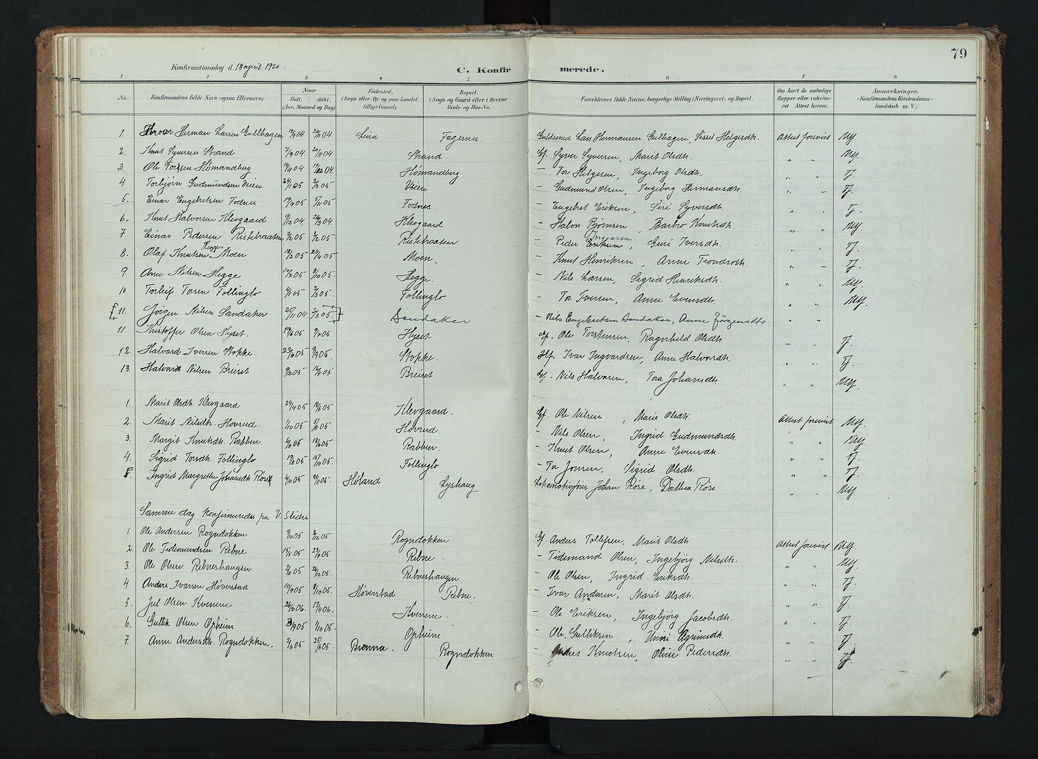 SAH, Nord-Aurdal prestekontor, Ministerialbok nr. 16, 1897-1925, s. 79