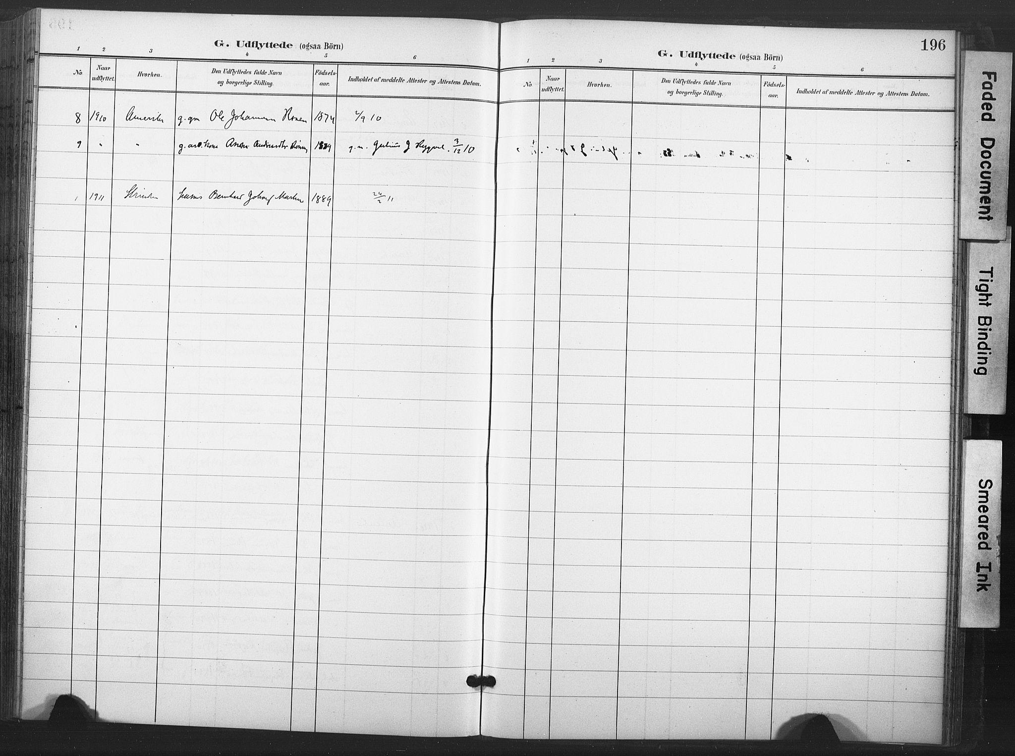 SAT, Ministerialprotokoller, klokkerbøker og fødselsregistre - Nord-Trøndelag, 713/L0122: Ministerialbok nr. 713A11, 1899-1910, s. 196