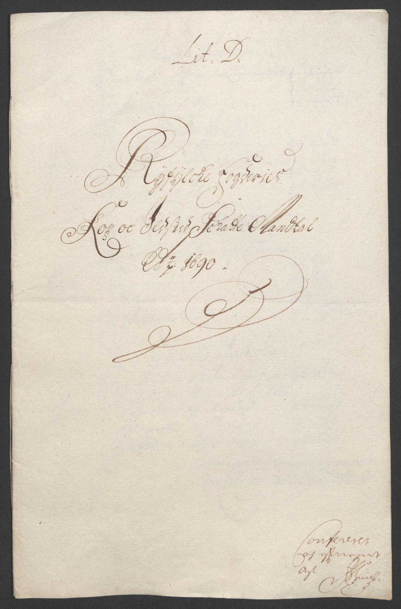 RA, Rentekammeret inntil 1814, Reviderte regnskaper, Fogderegnskap, R47/L2856: Fogderegnskap Ryfylke, 1689-1693, s. 203