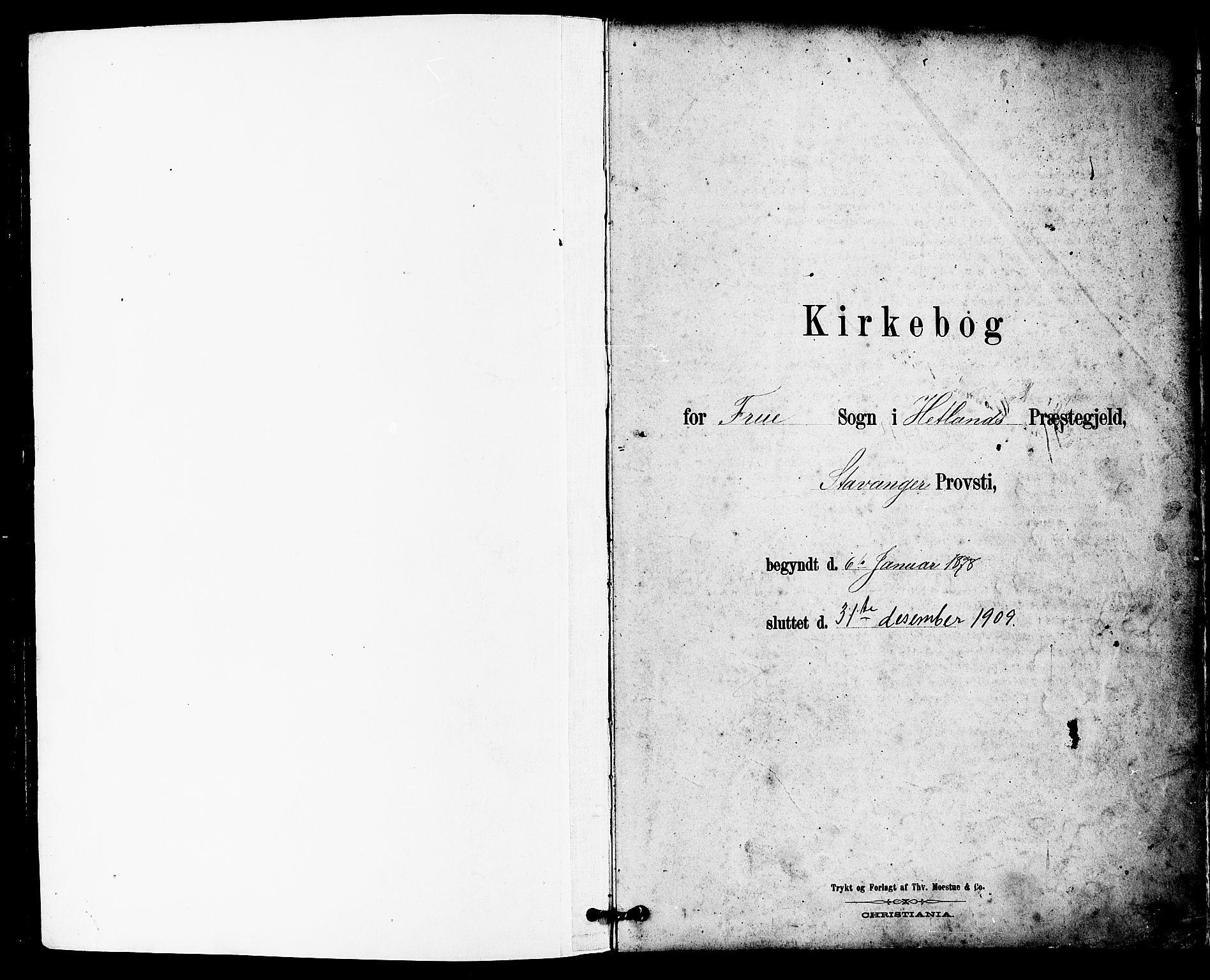 SAST, Hetland sokneprestkontor, 30/30BB/L0005: Klokkerbok nr. B 5, 1878-1910