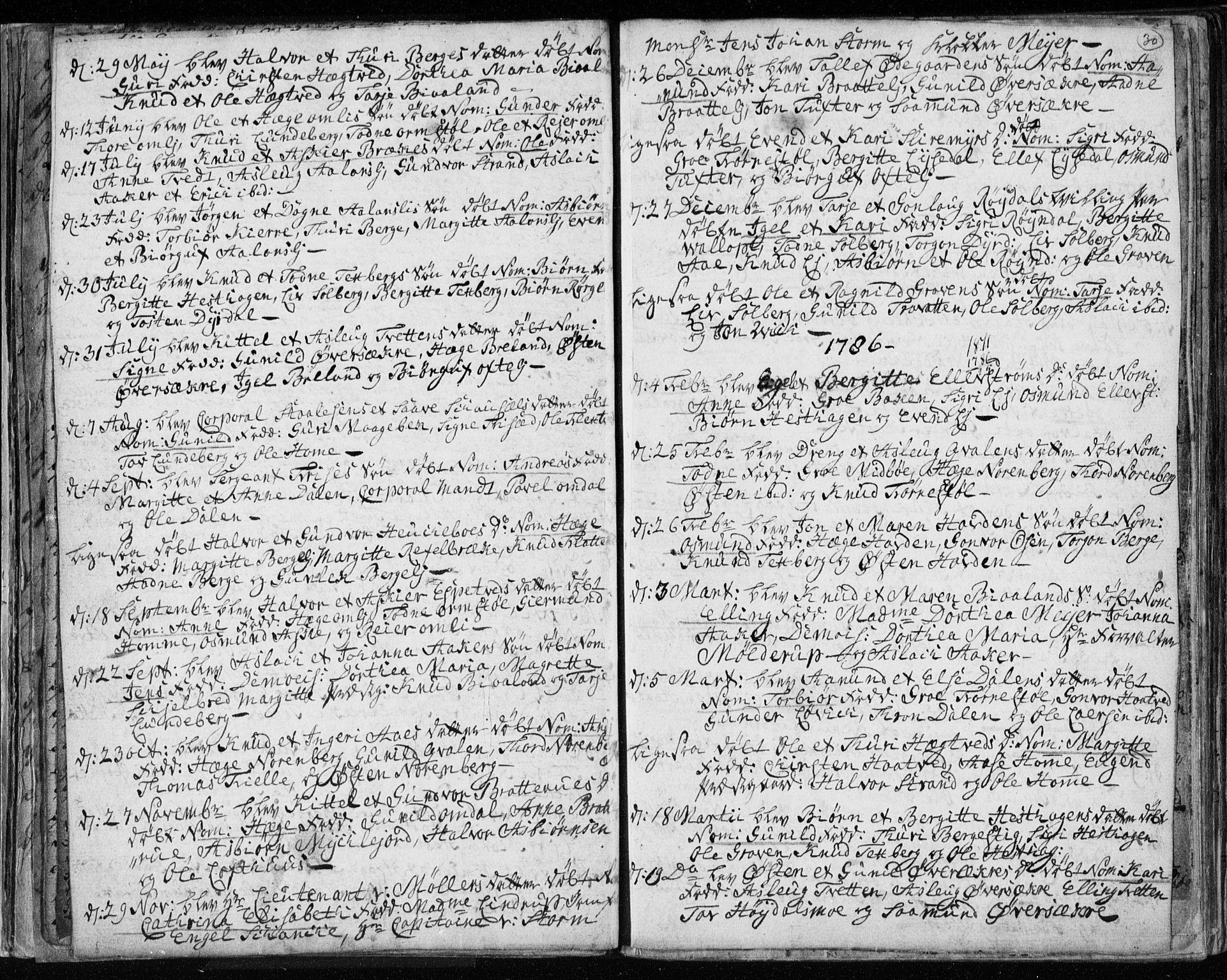 SAKO, Lårdal kirkebøker, F/Fa/L0003: Ministerialbok nr. I 3, 1754-1790, s. 30