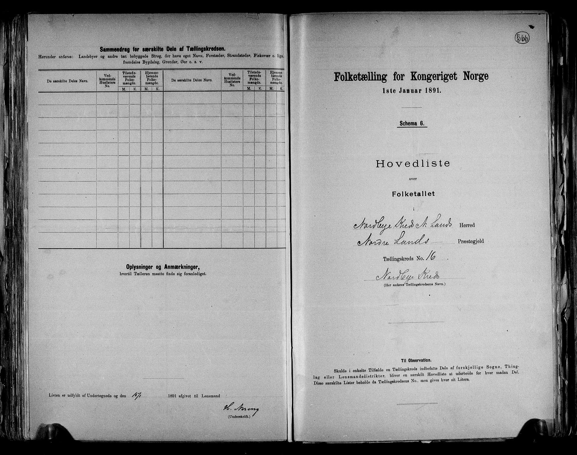RA, Folketelling 1891 for 0538 Nordre Land herred, 1891, s. 34