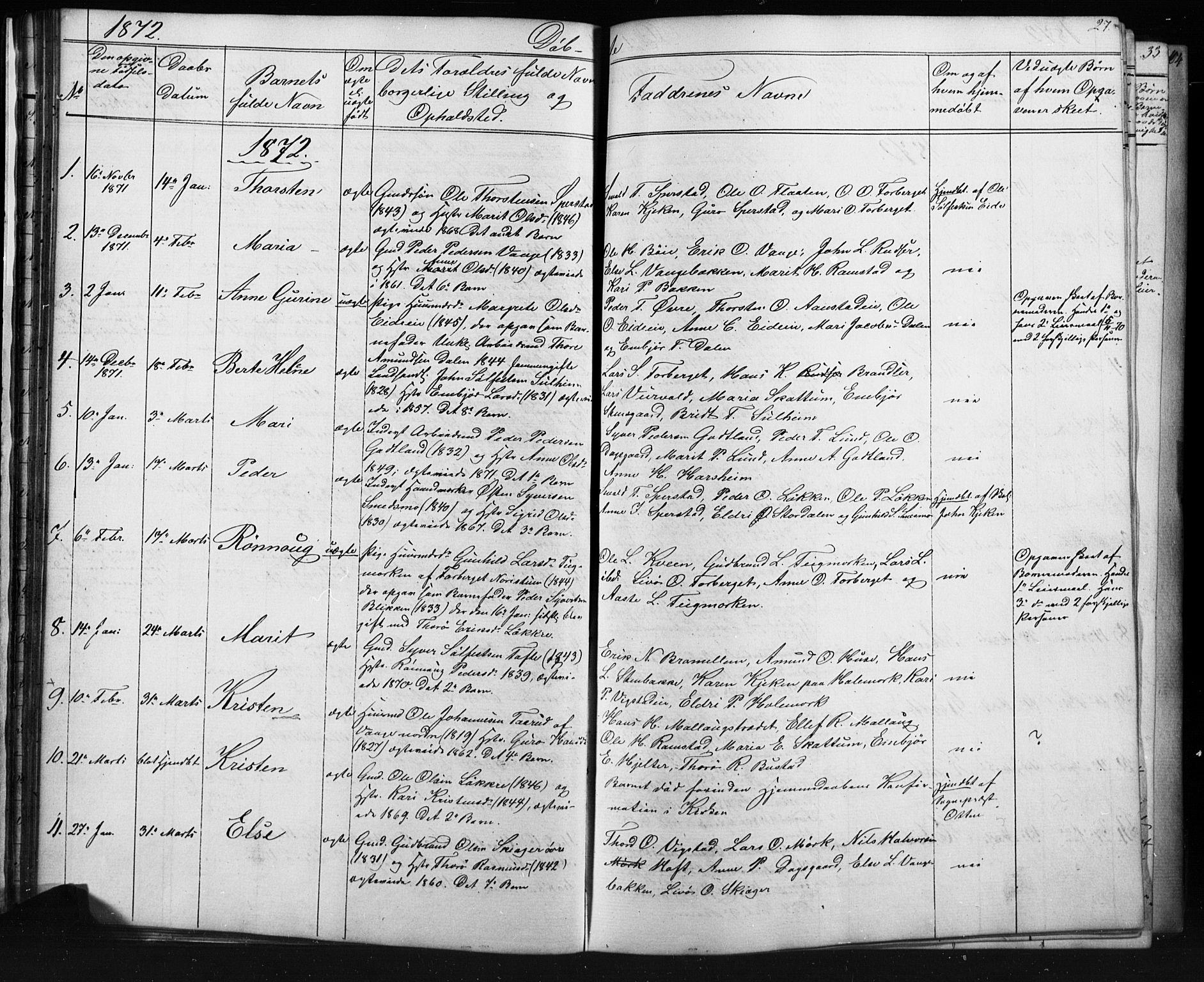 SAH, Skjåk prestekontor, Klokkerbok nr. 1, 1865-1893, s. 27