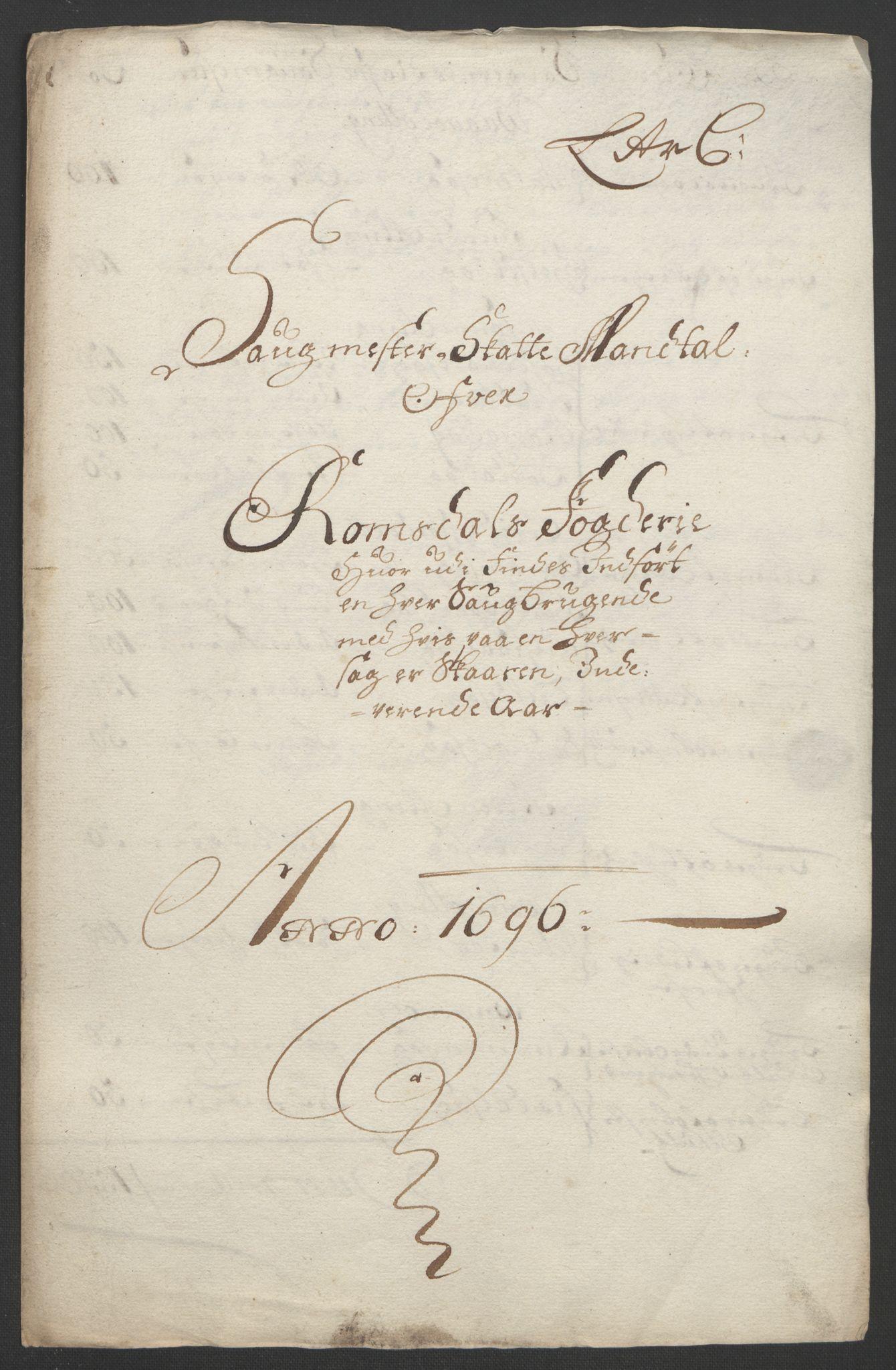 RA, Rentekammeret inntil 1814, Reviderte regnskaper, Fogderegnskap, R55/L3652: Fogderegnskap Romsdal, 1695-1696, s. 223