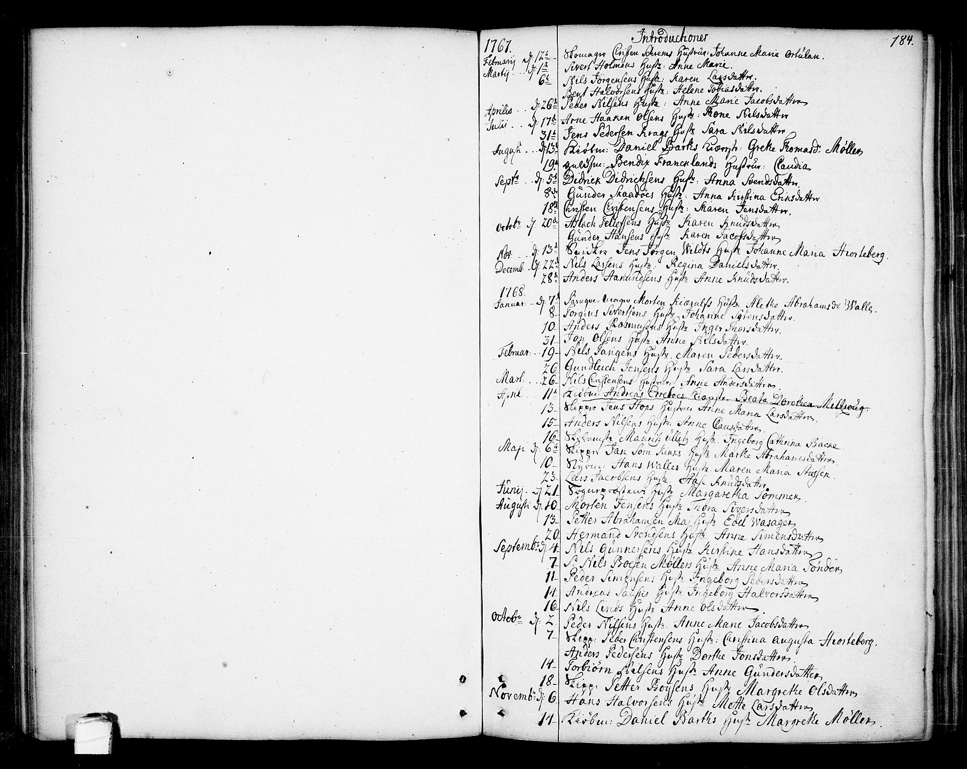 SAKO, Kragerø kirkebøker, F/Fa/L0002: Ministerialbok nr. 2, 1767-1802, s. 184