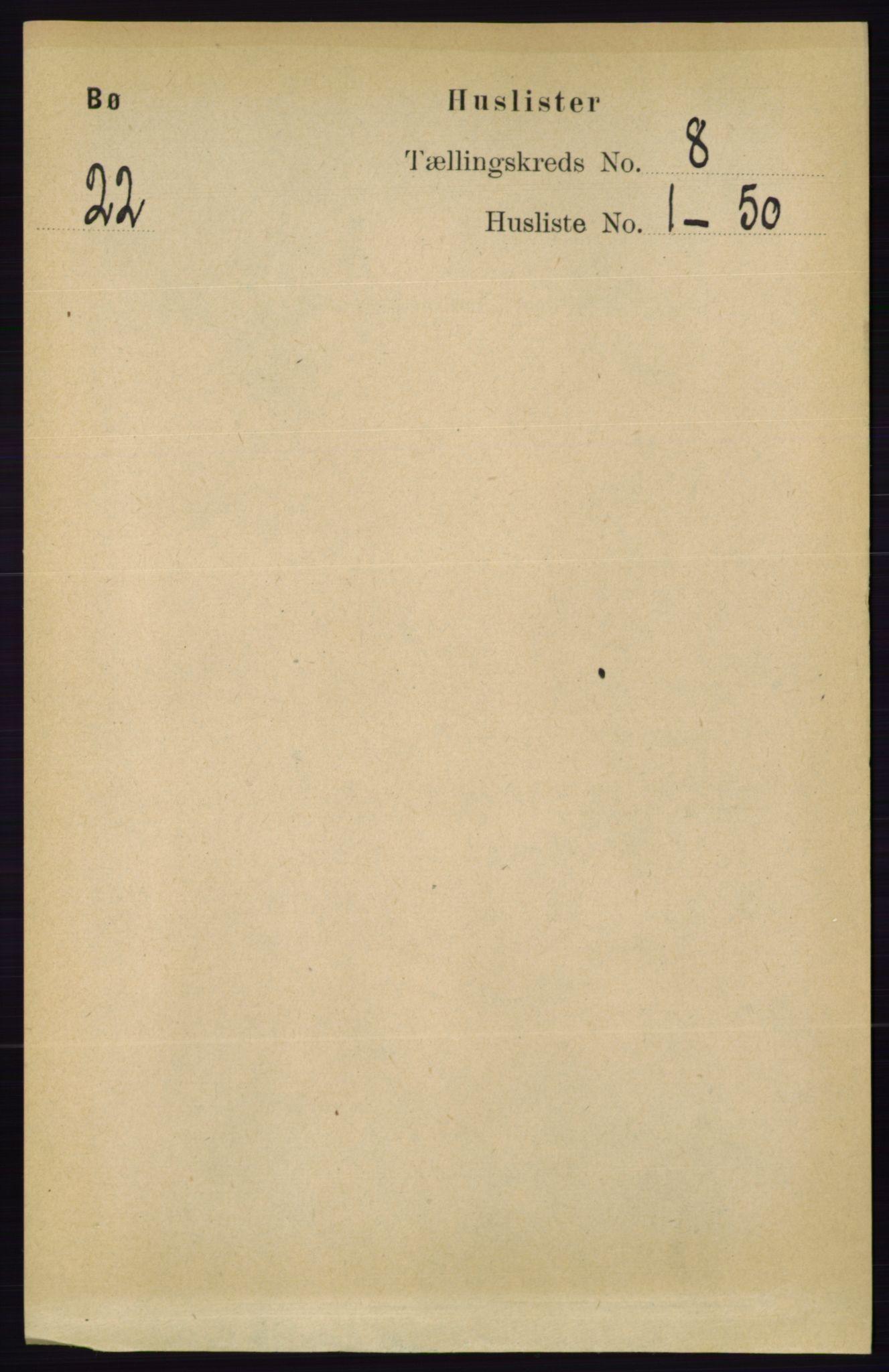 RA, Folketelling 1891 for 0821 Bø herred, 1891, s. 2502