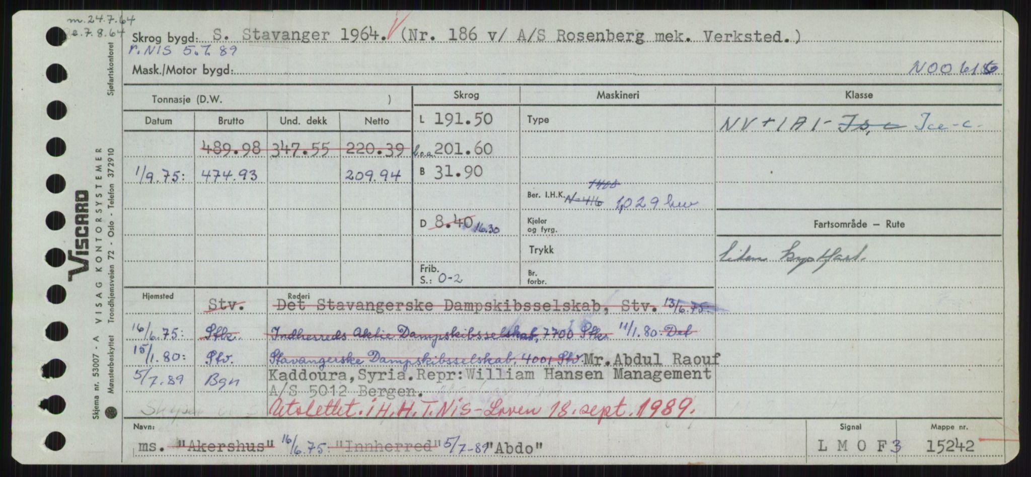 RA, Sjøfartsdirektoratet med forløpere, Skipsmålingen, H/Hd/L0001: Fartøy, A-Anv, s. 7