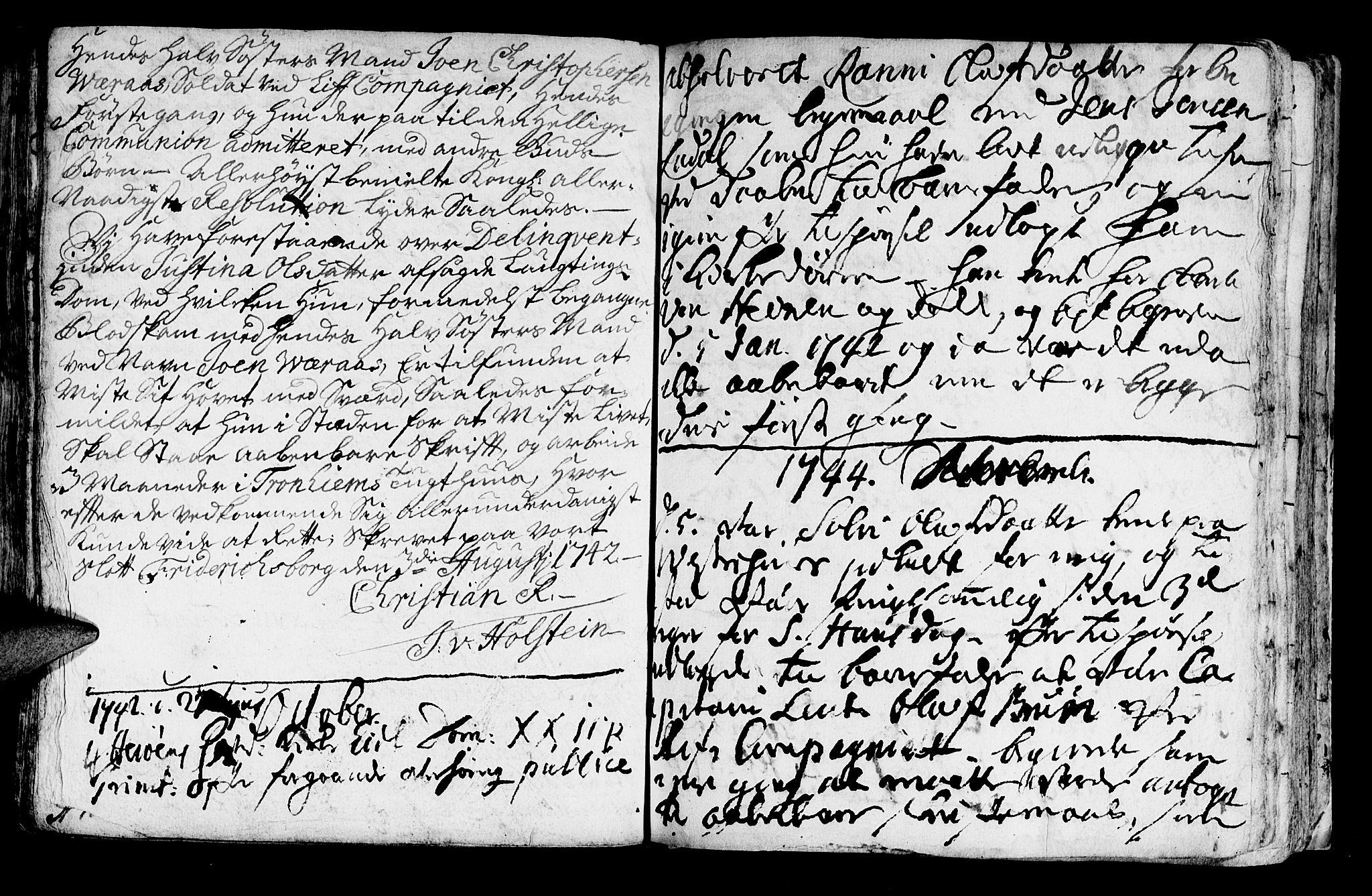 SAT, Ministerialprotokoller, klokkerbøker og fødselsregistre - Nord-Trøndelag, 722/L0215: Ministerialbok nr. 722A02, 1718-1755, s. 298b