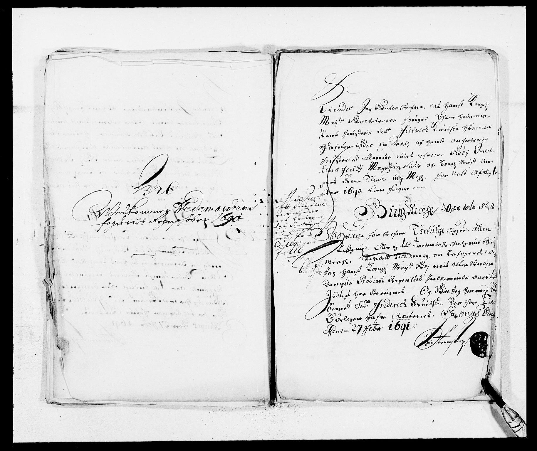 RA, Rentekammeret inntil 1814, Reviderte regnskaper, Fogderegnskap, R16/L1031: Fogderegnskap Hedmark, 1689-1692, s. 306