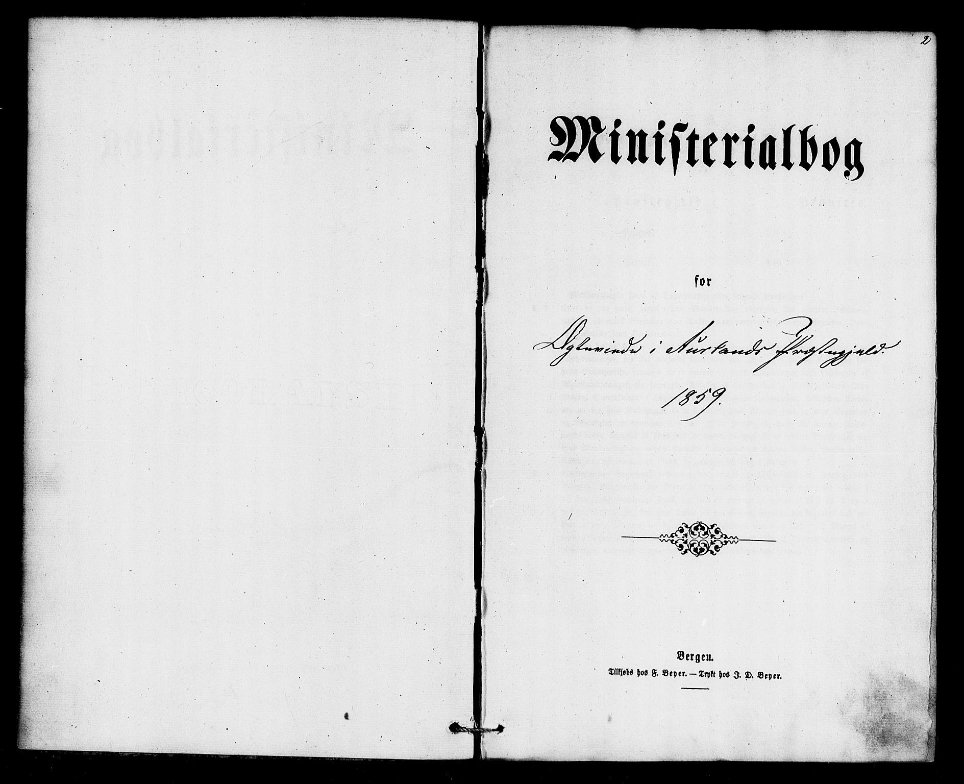SAB, Aurland Sokneprestembete*, Ministerialbok nr. A 10, 1859-1879, s. 2