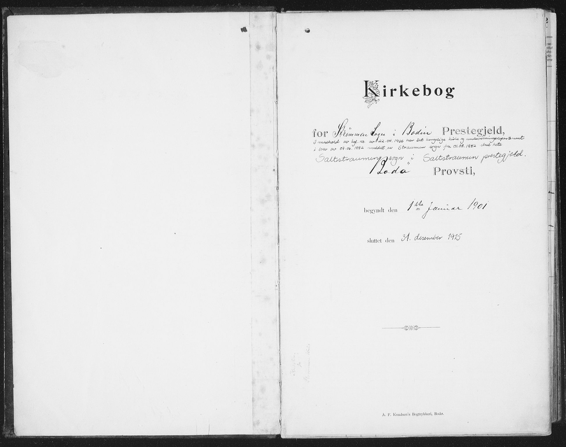 SAT, Ministerialprotokoller, klokkerbøker og fødselsregistre - Nordland, 804/L0081: Ministerialbok nr. 804A02, 1901-1915