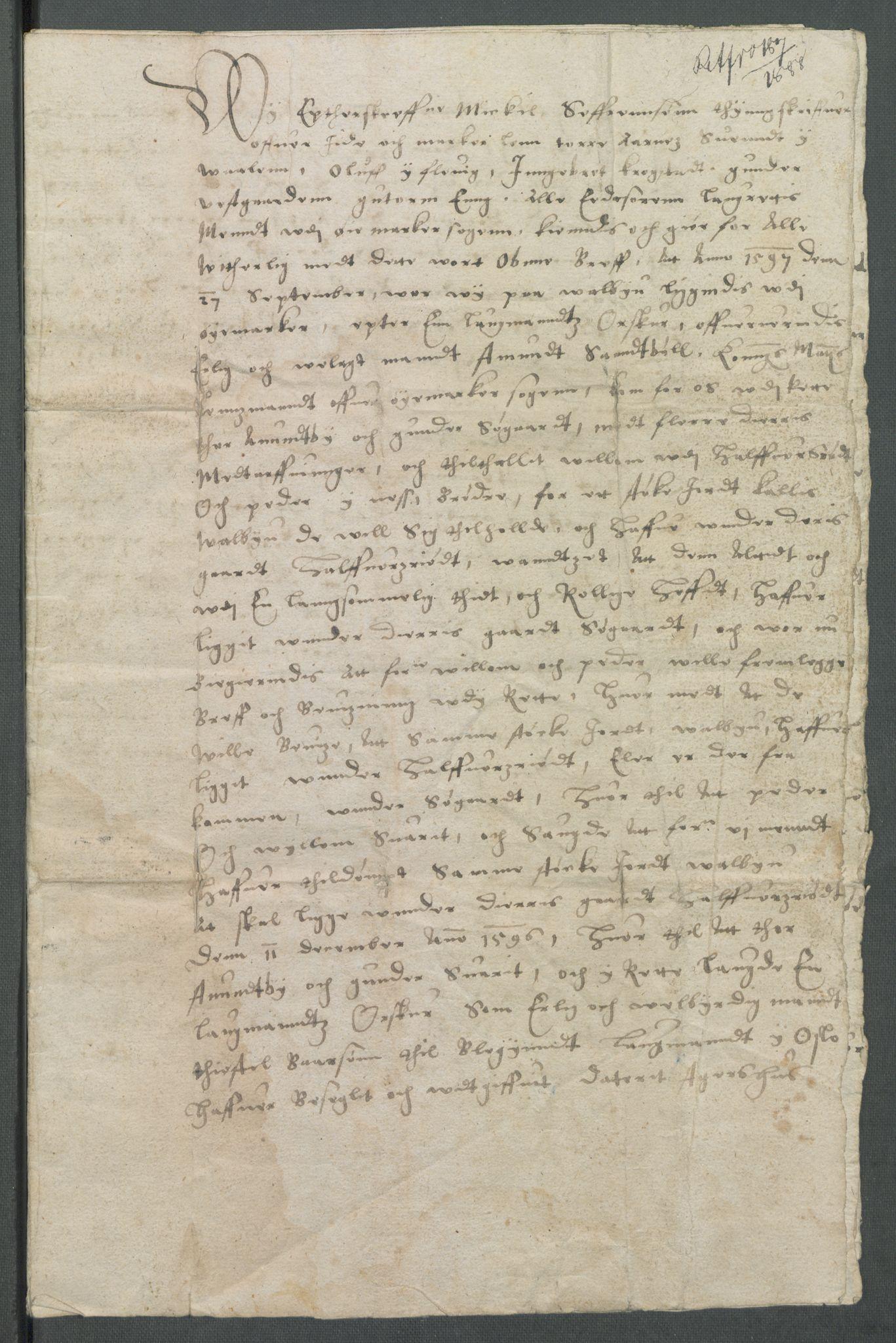 RA, Riksarkivets diplomsamling, F02/L0104: Dokumenter, 1597, s. 21