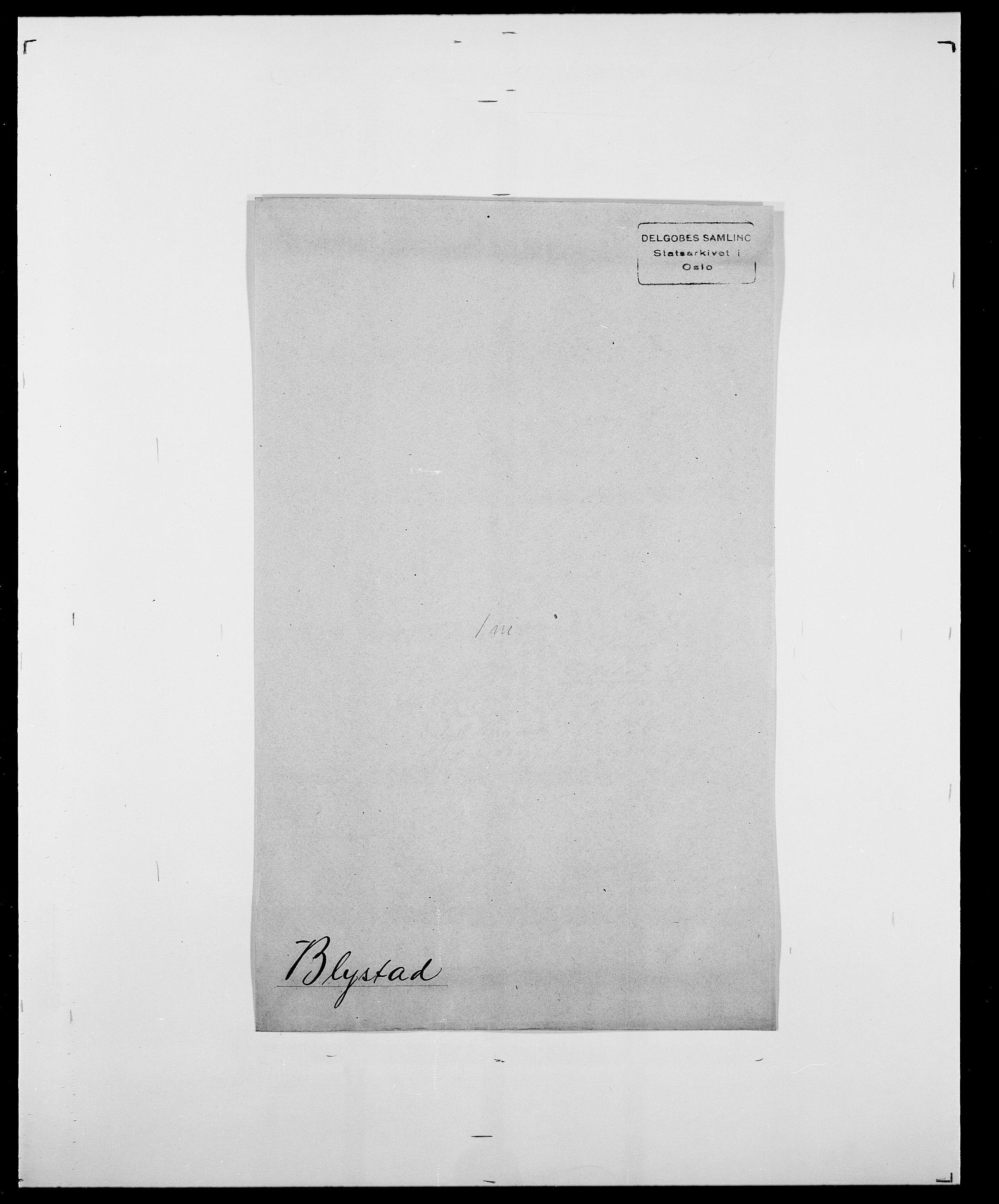 SAO, Delgobe, Charles Antoine - samling, D/Da/L0004: Bergendahl - Blære, s. 806