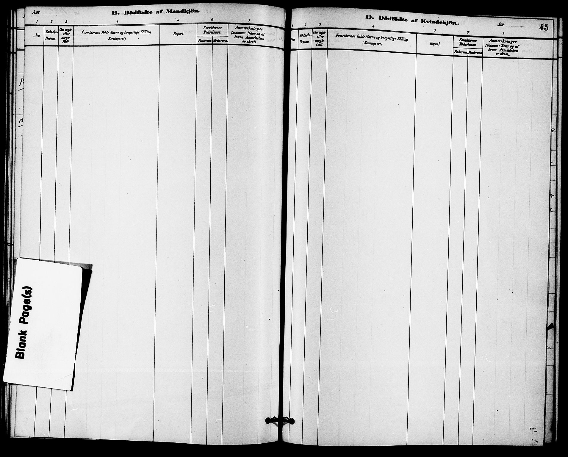 SAKO, Solum kirkebøker, F/Fc/L0001: Ministerialbok nr. III 1, 1877-1891, s. 45