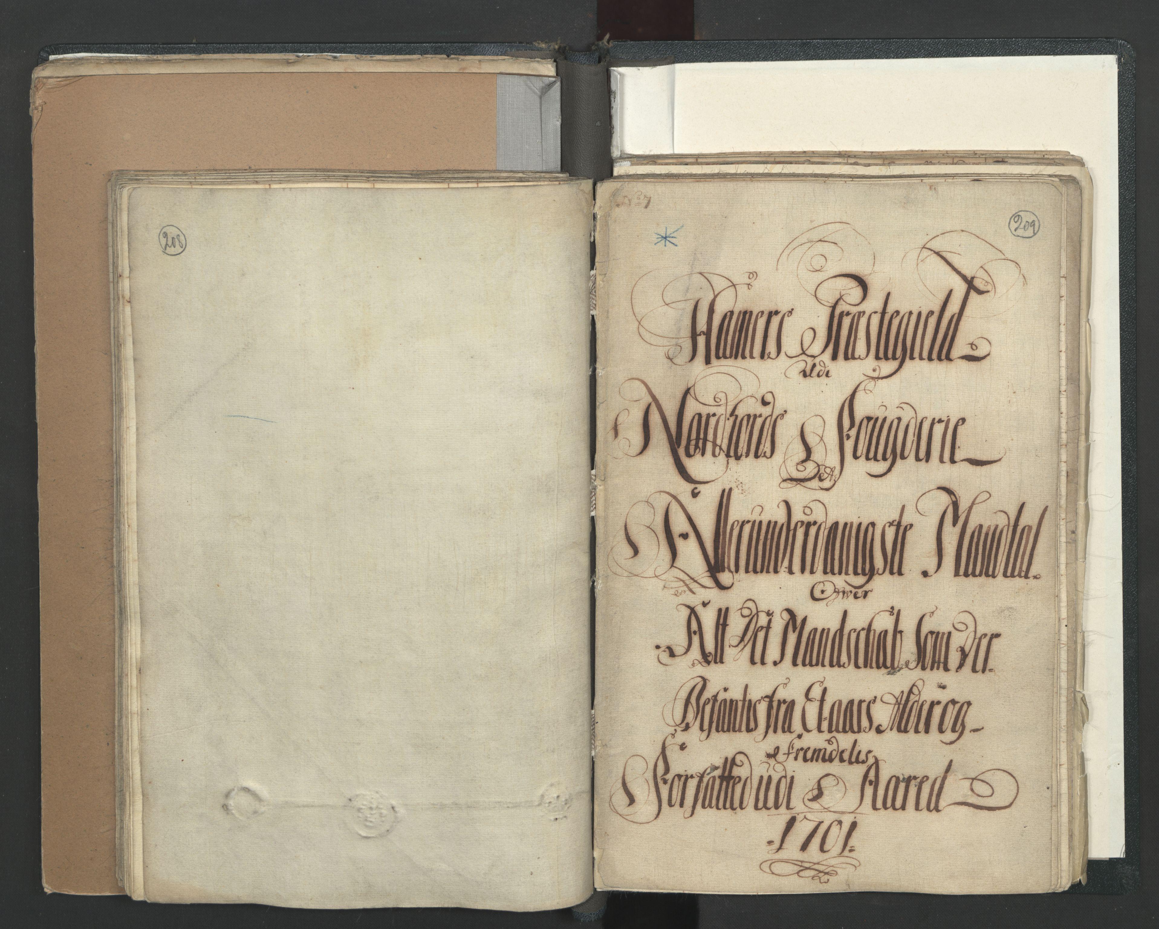 RA, Manntallet 1701, nr. 7: Nordhordland og Voss fogderi, 1701, s. 208-209