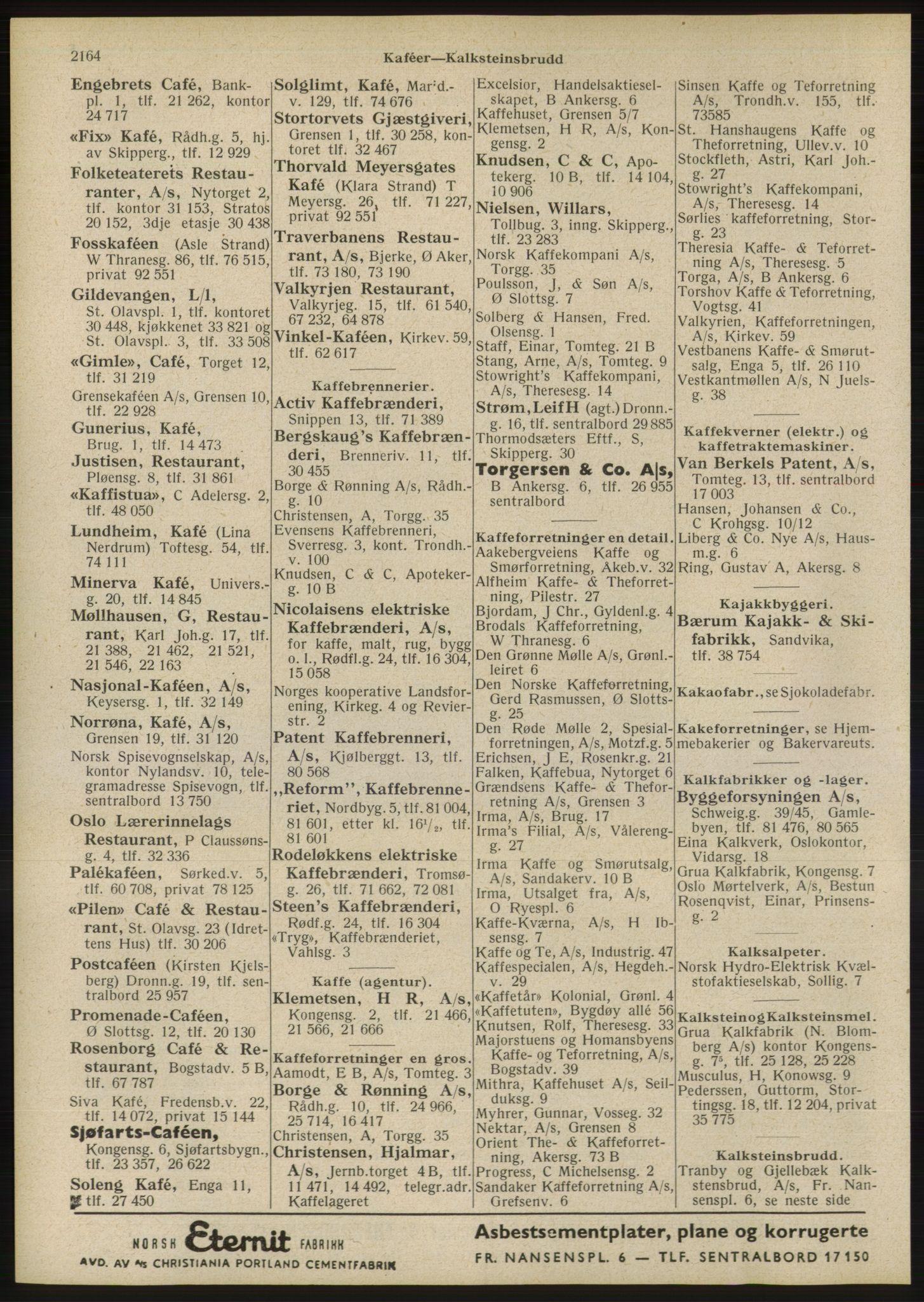 RA, Oslo adressebok (publikasjon)*, 1946, s. 2164