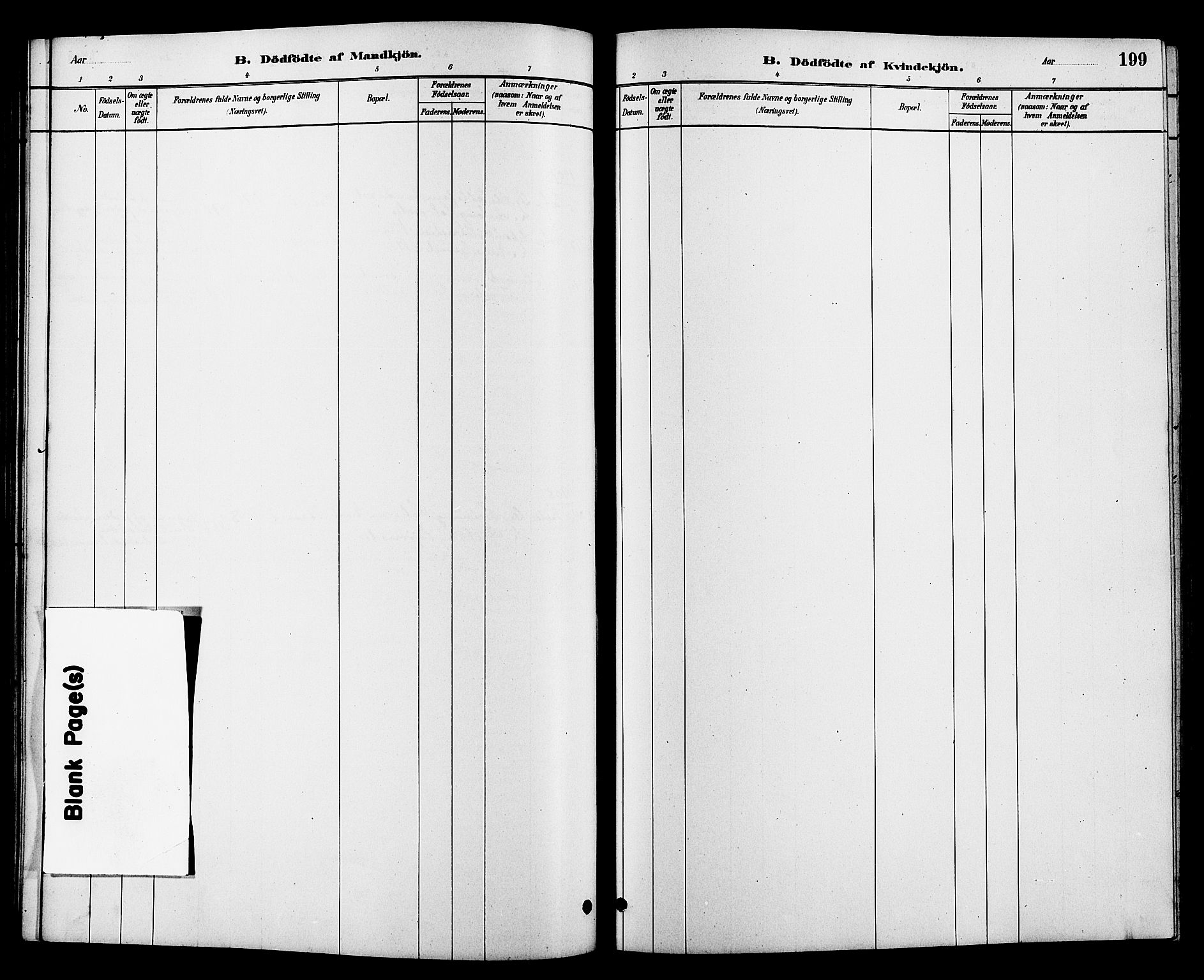 SAKO, Heddal kirkebøker, G/Ga/L0002: Klokkerbok nr. I 2, 1879-1908, s. 199