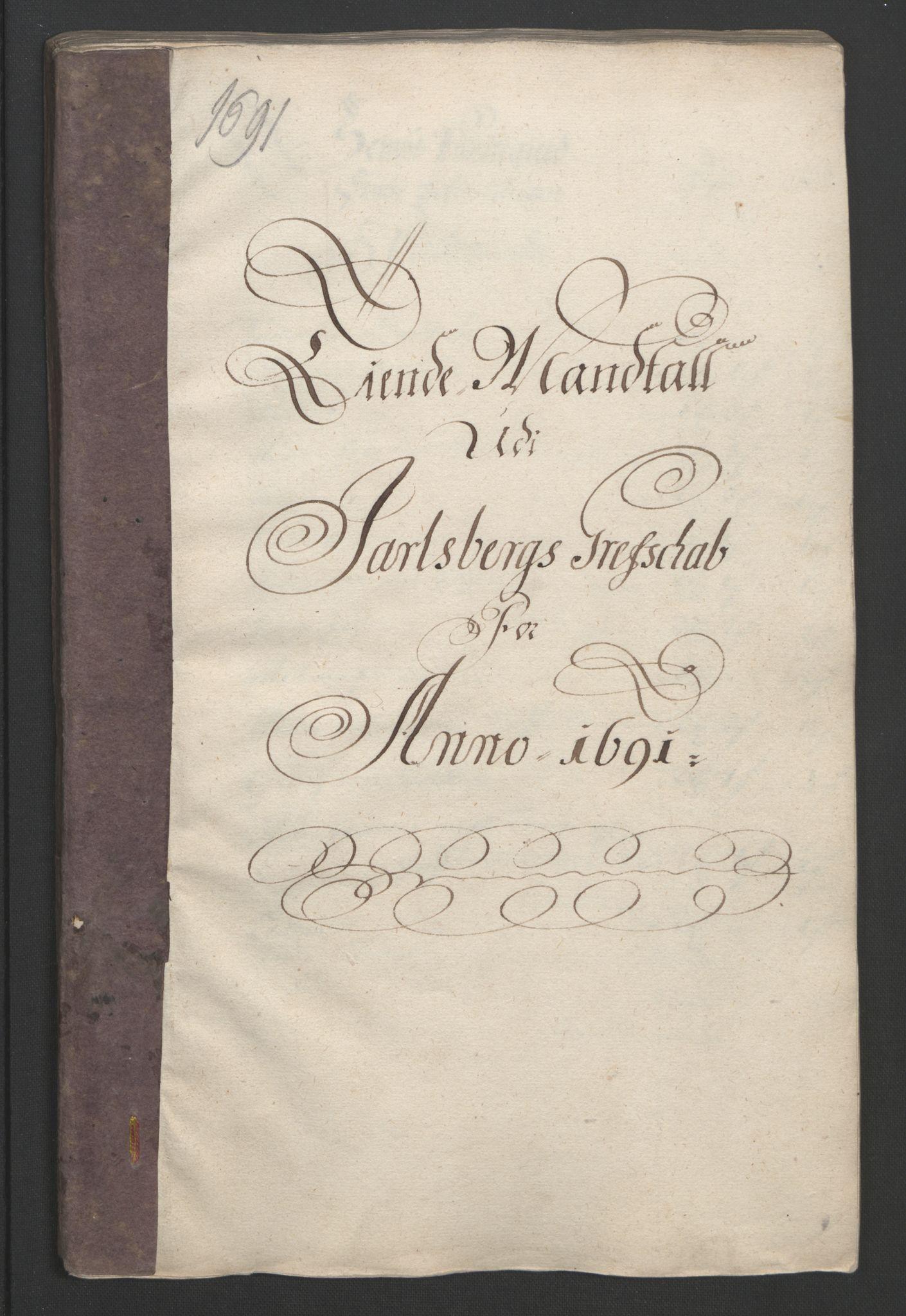 RA, Rentekammeret inntil 1814, Reviderte regnskaper, Fogderegnskap, R32/L1864: Fogderegnskap Jarlsberg grevskap, 1691, s. 334