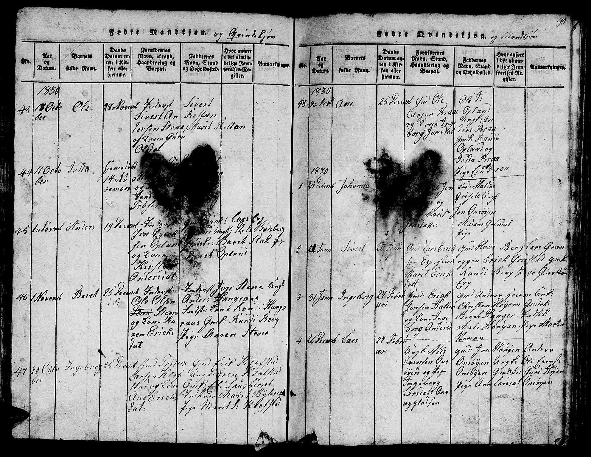 SAT, Ministerialprotokoller, klokkerbøker og fødselsregistre - Sør-Trøndelag, 612/L0385: Klokkerbok nr. 612C01, 1816-1845, s. 90