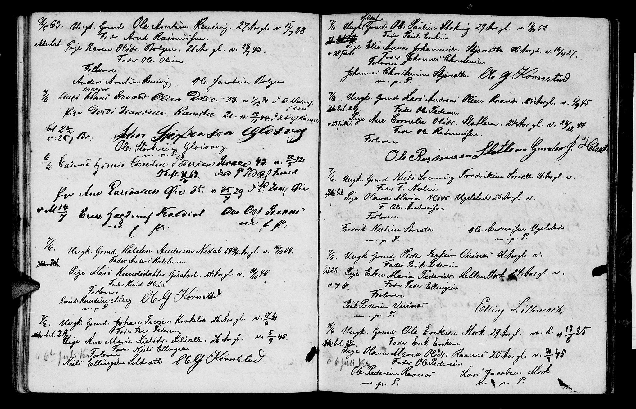 SAT, Ministerialprotokoller, klokkerbøker og fødselsregistre - Møre og Romsdal, 568/L0796: Ministerialbok nr. 568A05, 1845-1871