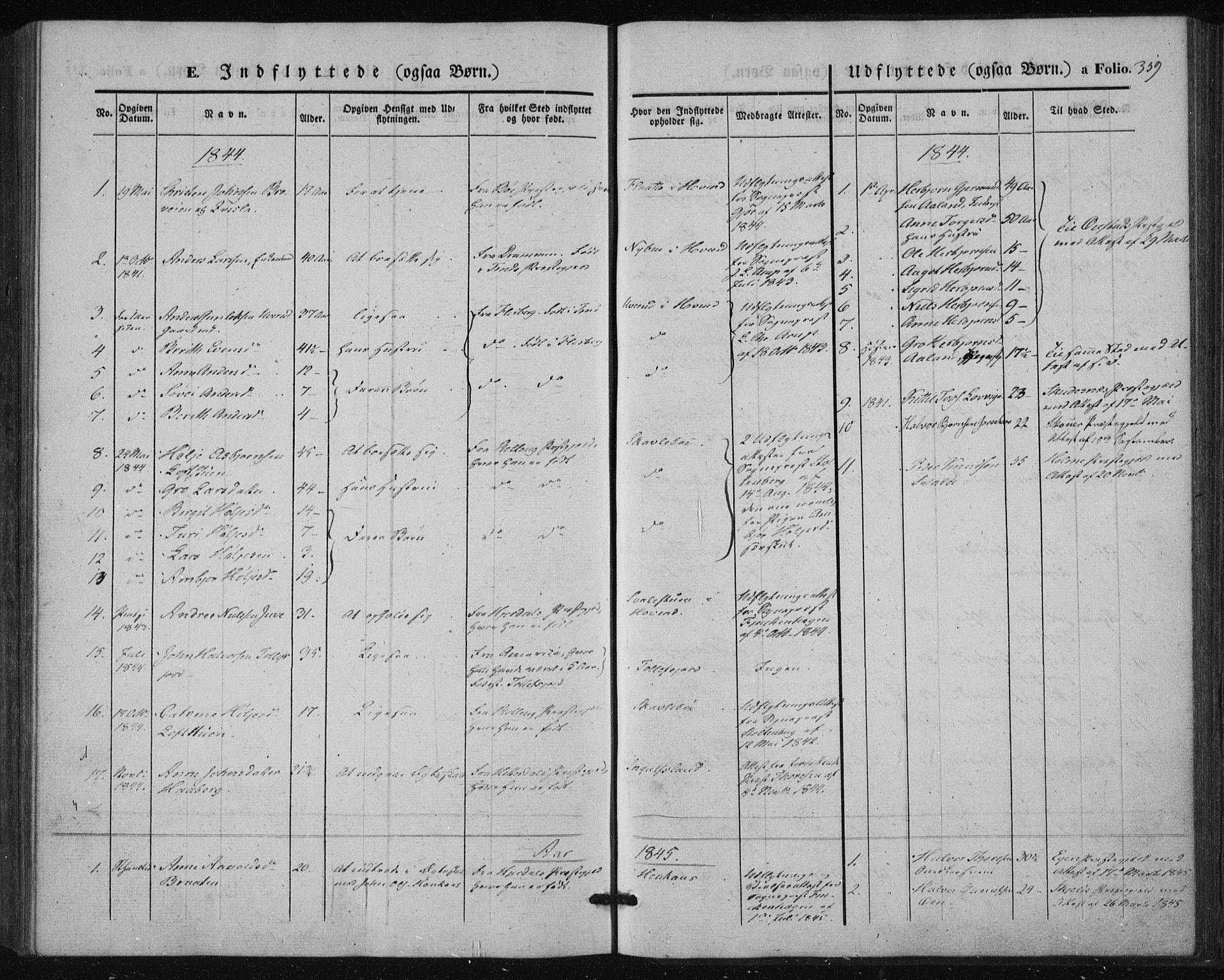 SAKO, Tinn kirkebøker, F/Fa/L0005: Ministerialbok nr. I 5, 1844-1856, s. 359