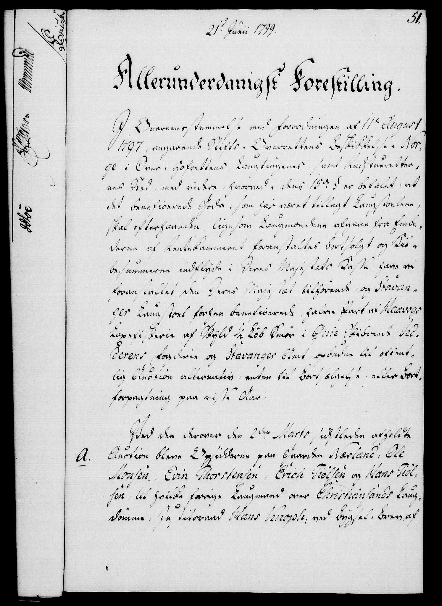 RA, Rentekammeret, Kammerkanselliet, G/Gf/Gfa/L0081: Norsk relasjons- og resolusjonsprotokoll (merket RK 52.81), 1799, s. 345