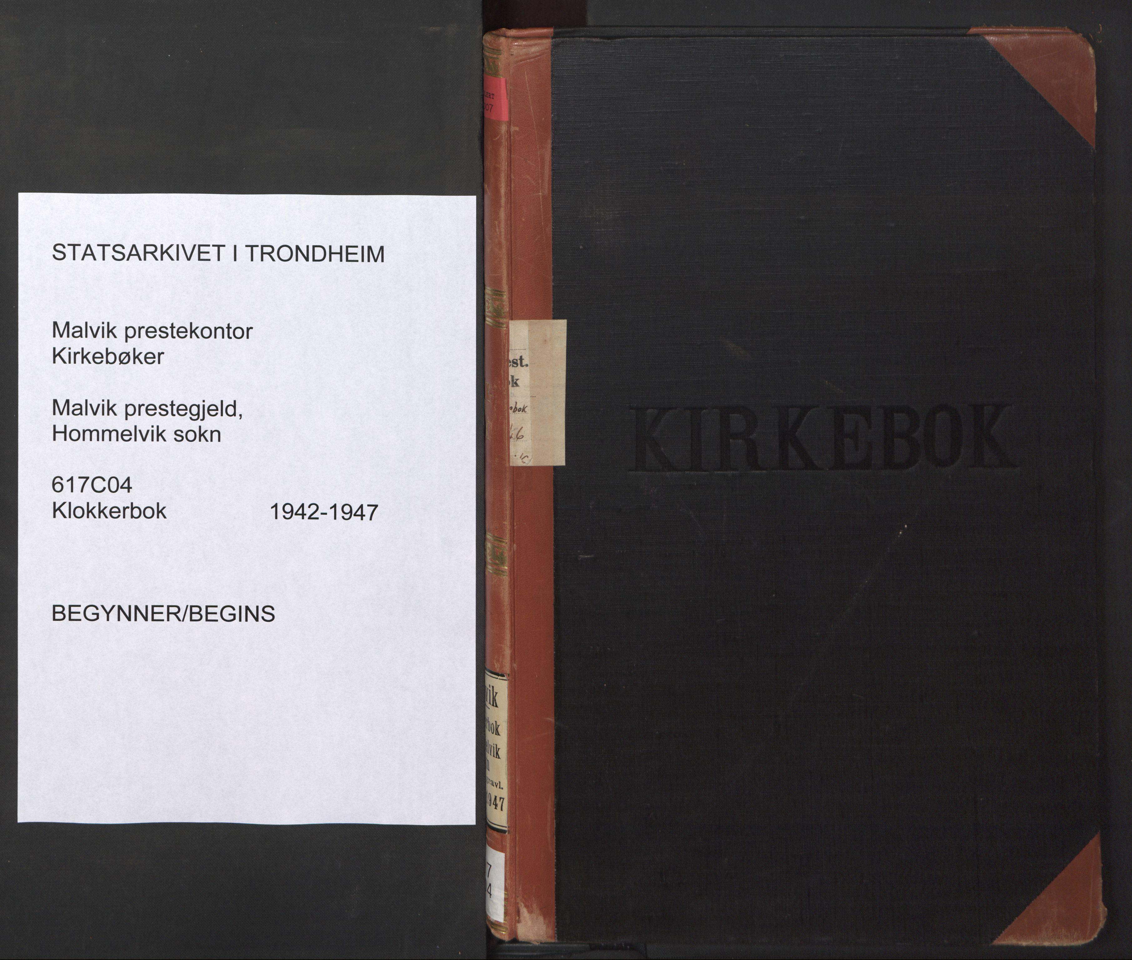 SAT, Ministerialprotokoller, klokkerbøker og fødselsregistre - Sør-Trøndelag, 617/L0433: Klokkerbok nr. 617C04, 1942-1947