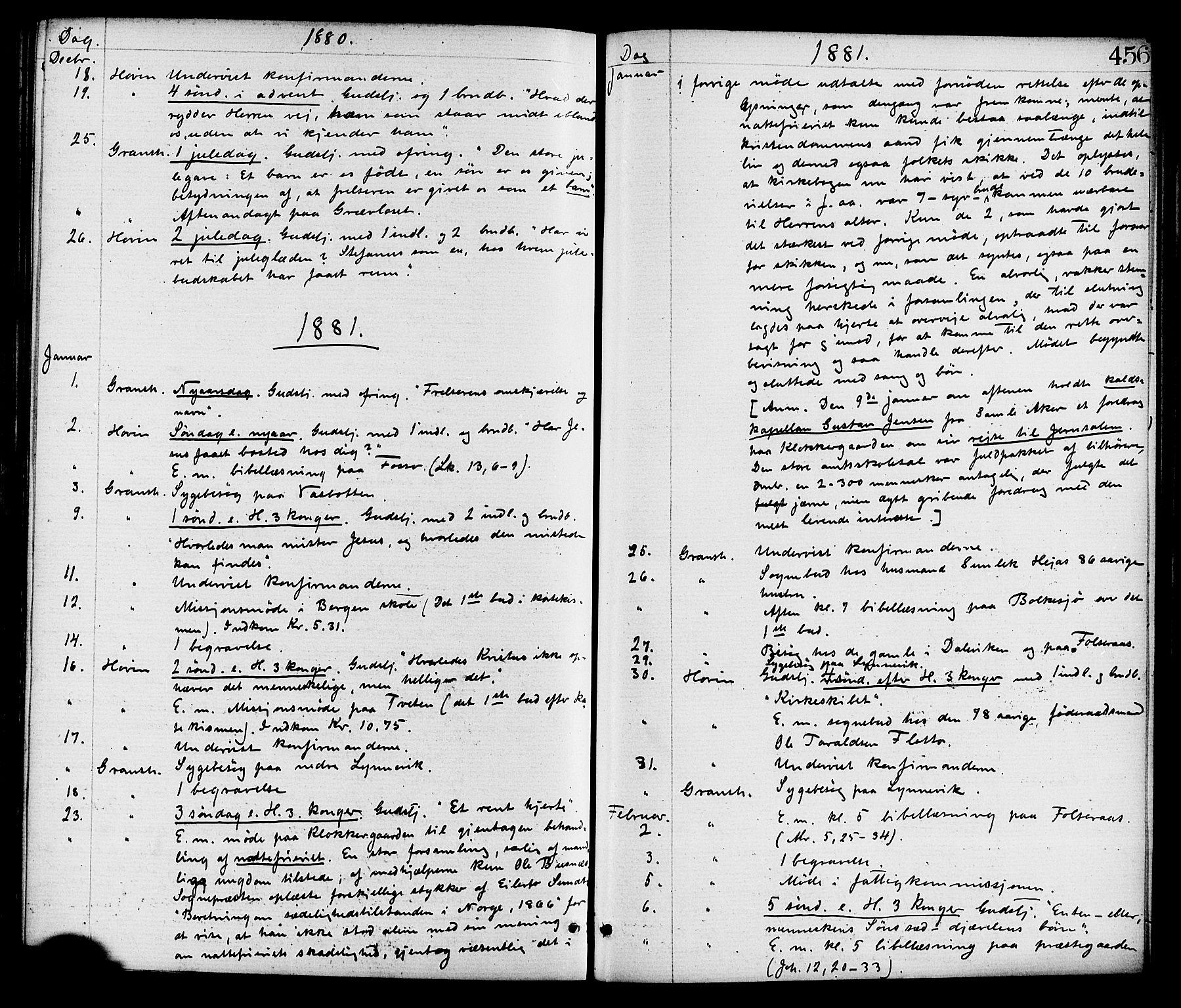 SAKO, Gransherad kirkebøker, F/Fa/L0004: Ministerialbok nr. I 4, 1871-1886, s. 456