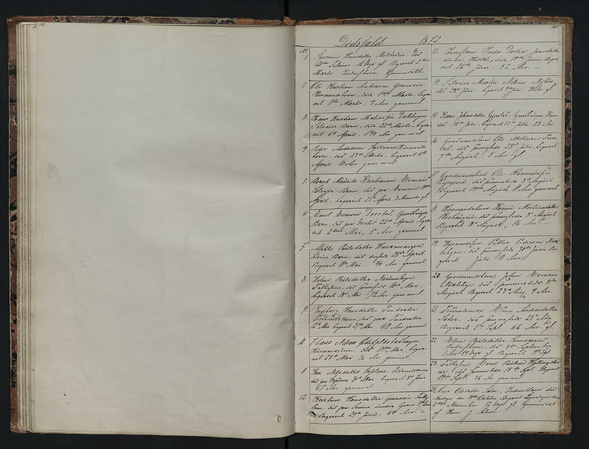 SAH, Vestre Toten prestekontor, Klokkerbok nr. 7, 1872-1900, s. 116-117