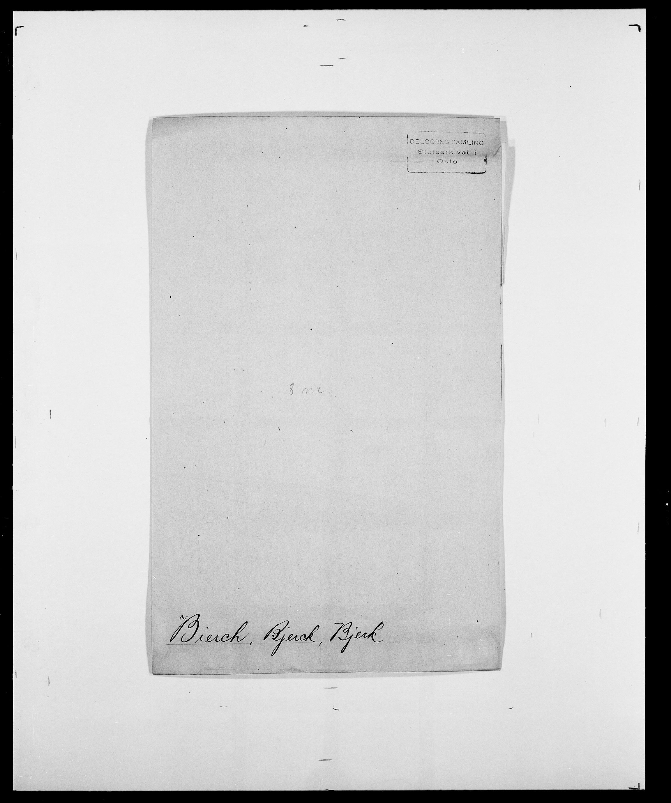 SAO, Delgobe, Charles Antoine - samling, D/Da/L0004: Bergendahl - Blære, s. 239