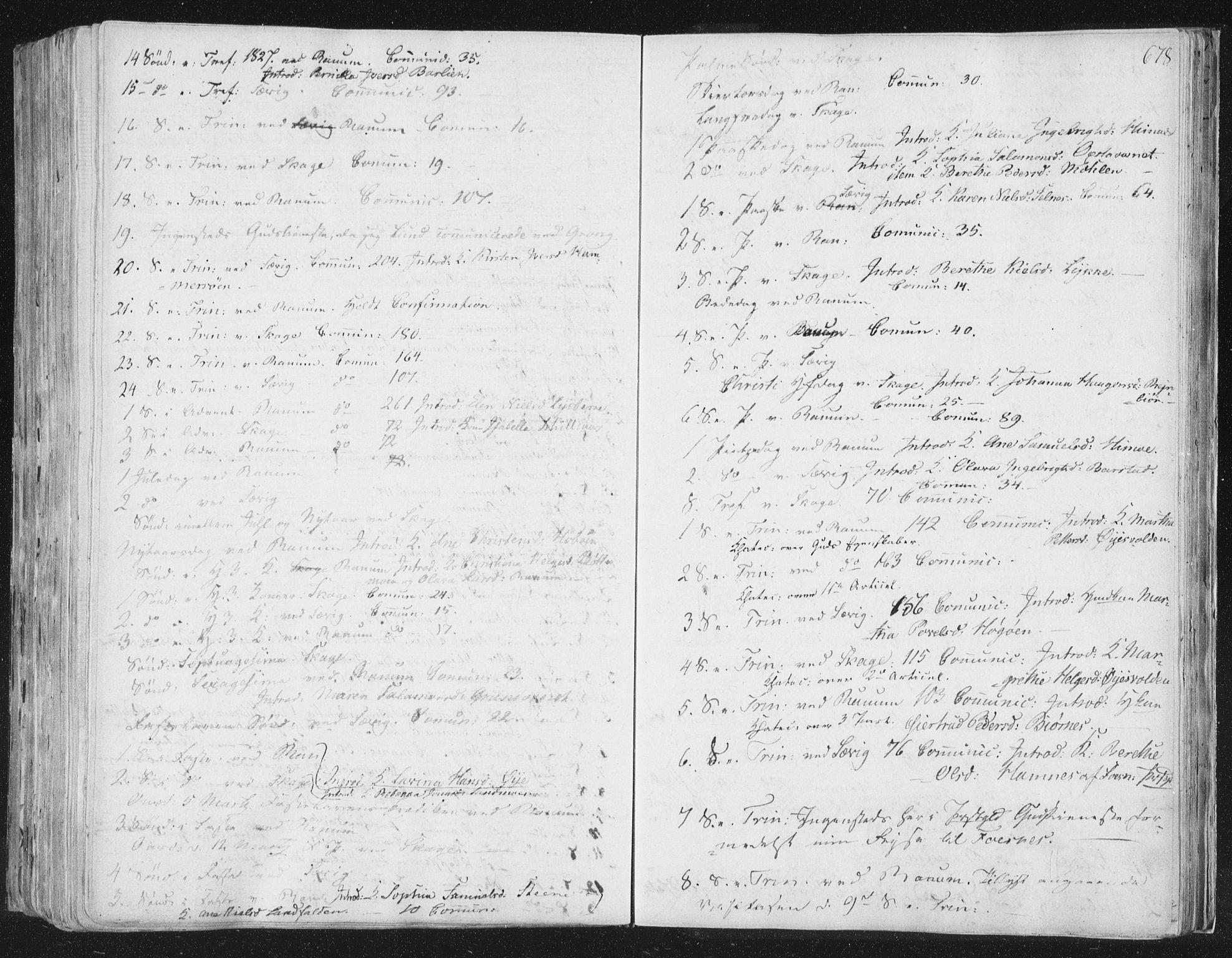SAT, Ministerialprotokoller, klokkerbøker og fødselsregistre - Nord-Trøndelag, 764/L0552: Ministerialbok nr. 764A07b, 1824-1865, s. 678