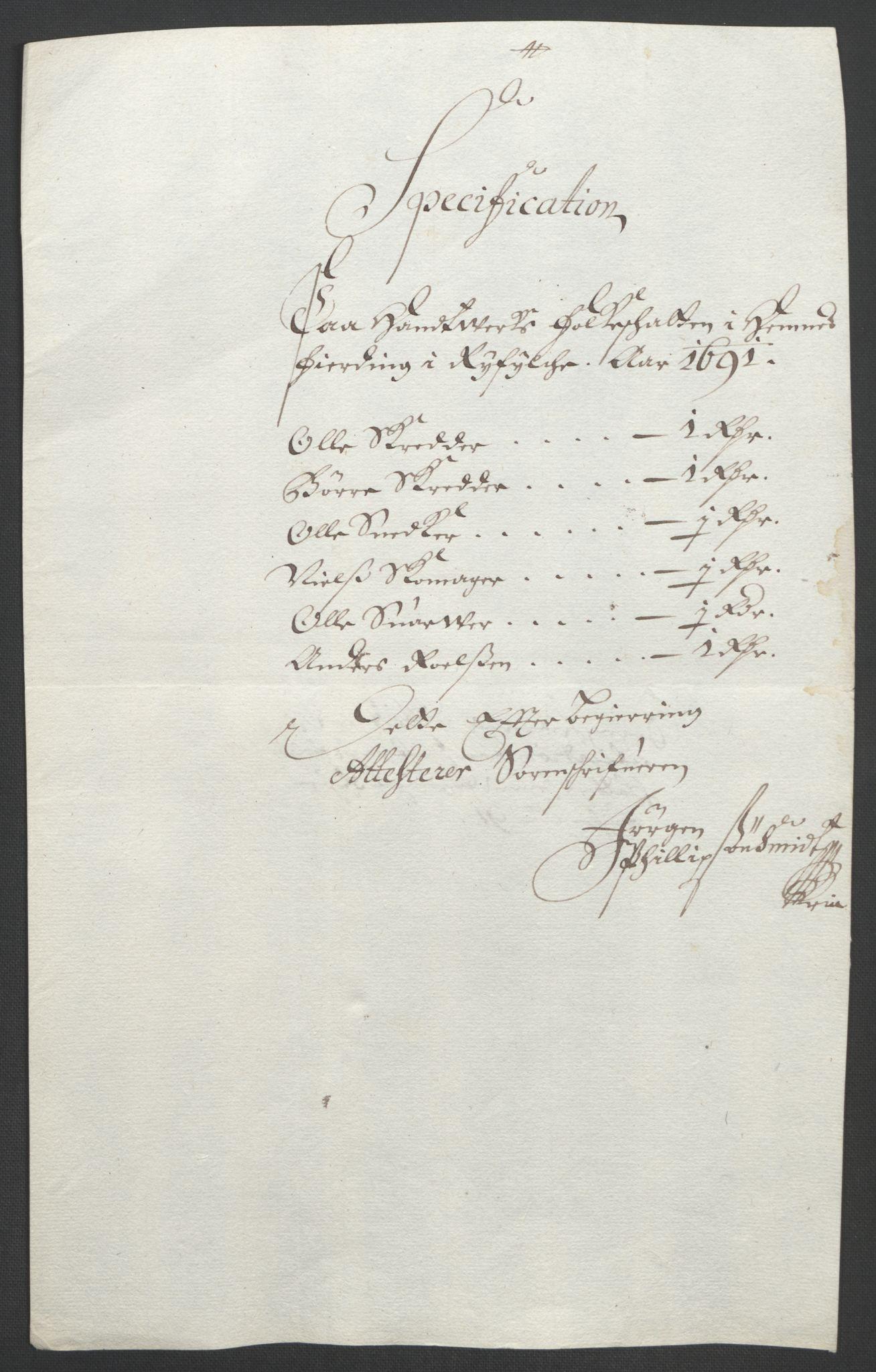 RA, Rentekammeret inntil 1814, Reviderte regnskaper, Fogderegnskap, R47/L2856: Fogderegnskap Ryfylke, 1689-1693, s. 377