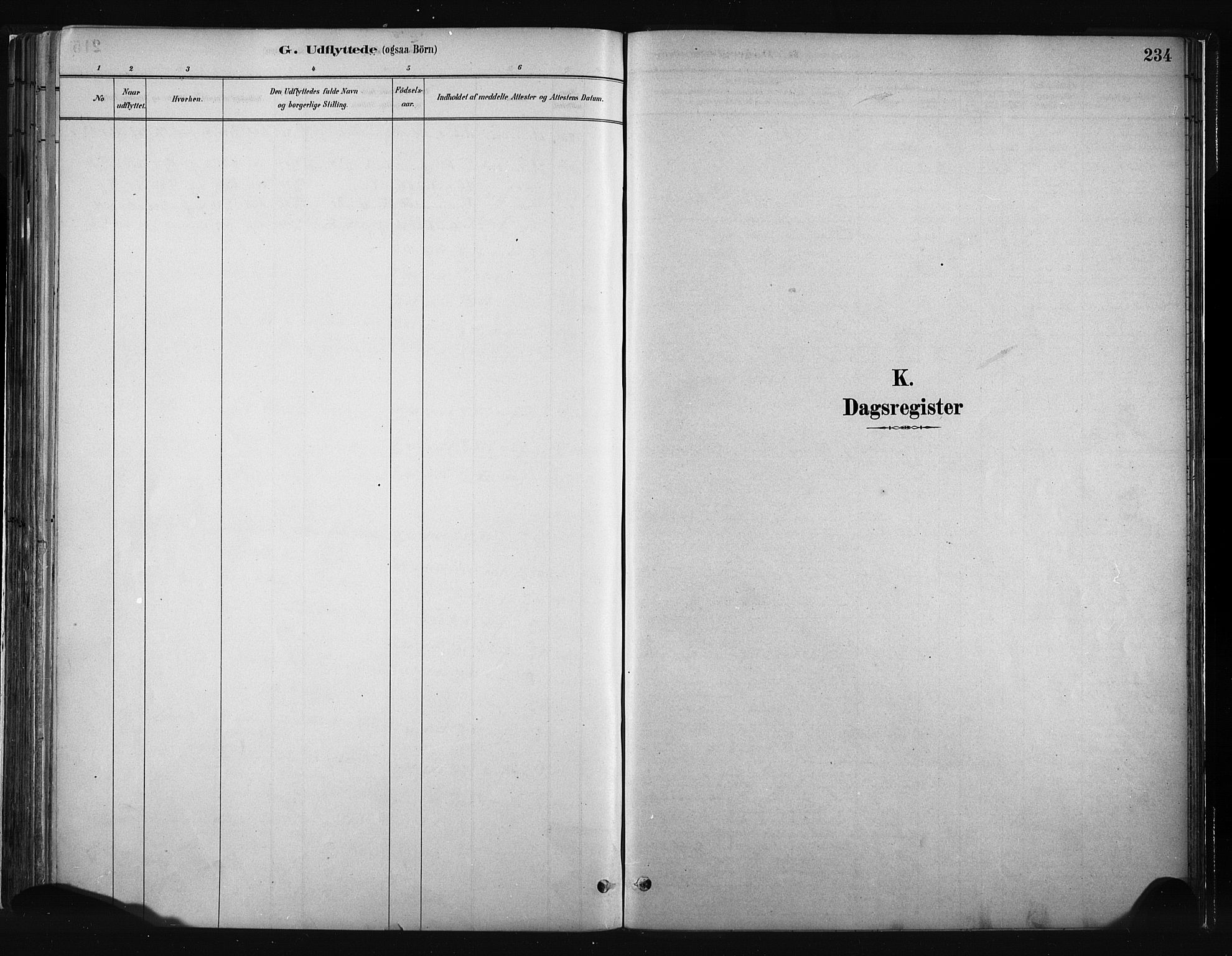 SAH, Vang prestekontor, Valdres, Ministerialbok nr. 8, 1882-1910, s. 234