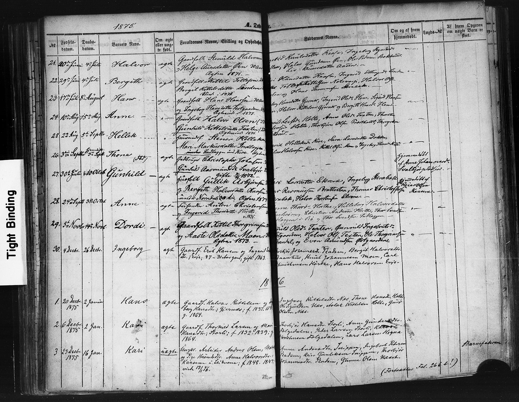 SAKO, Sauherad kirkebøker, F/Fb/L0001: Ministerialbok nr. II 1, 1851-1877, s. 73