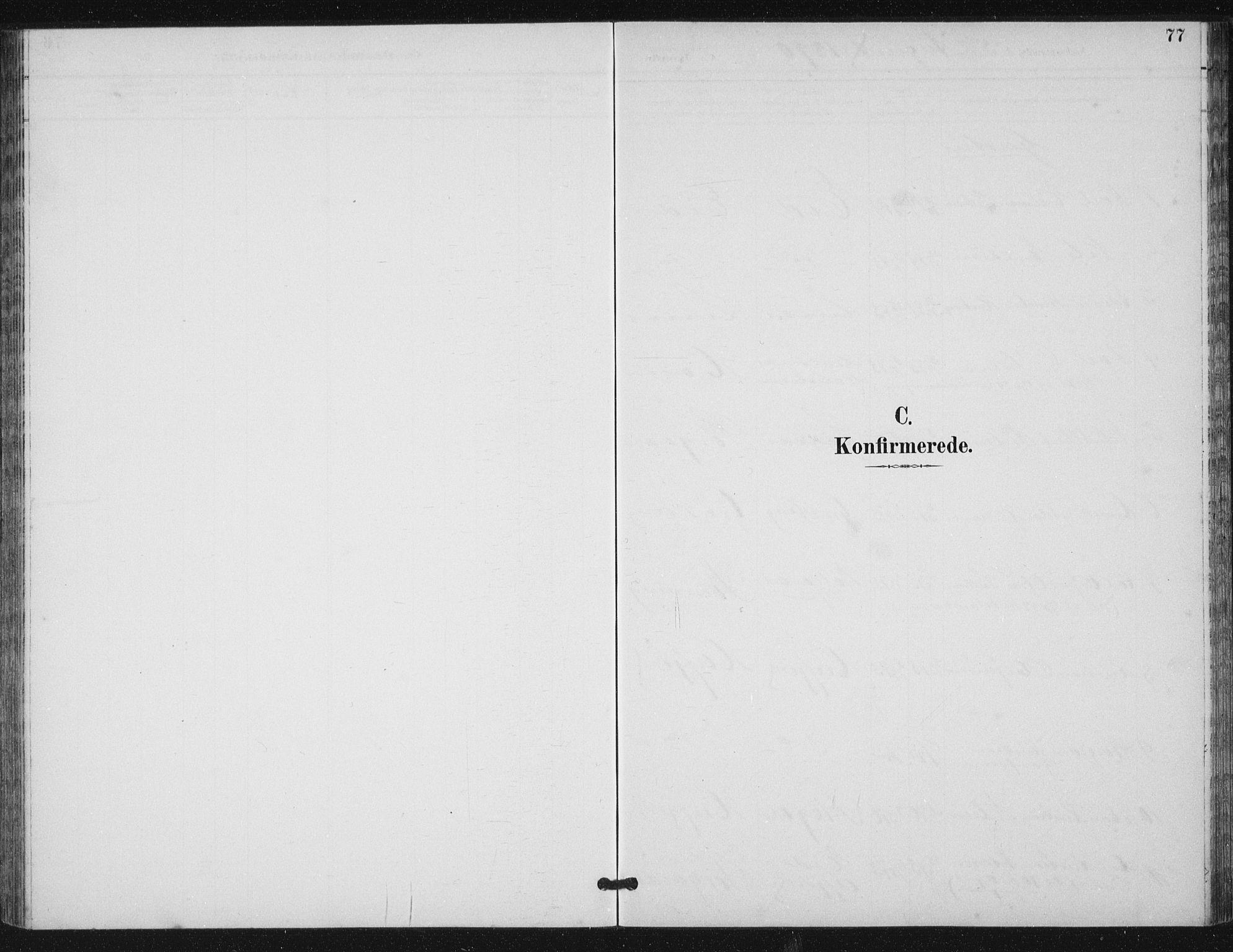 SAT, Ministerialprotokoller, klokkerbøker og fødselsregistre - Sør-Trøndelag, 656/L0698: Klokkerbok nr. 656C04, 1890-1904, s. 77