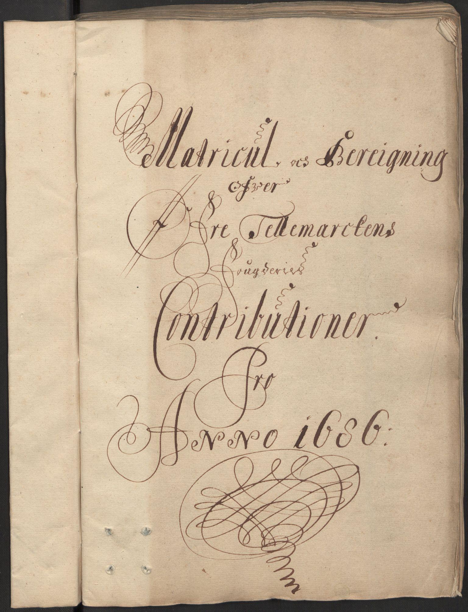 RA, Rentekammeret inntil 1814, Reviderte regnskaper, Fogderegnskap, R35/L2084: Fogderegnskap Øvre og Nedre Telemark, 1686, s. 3
