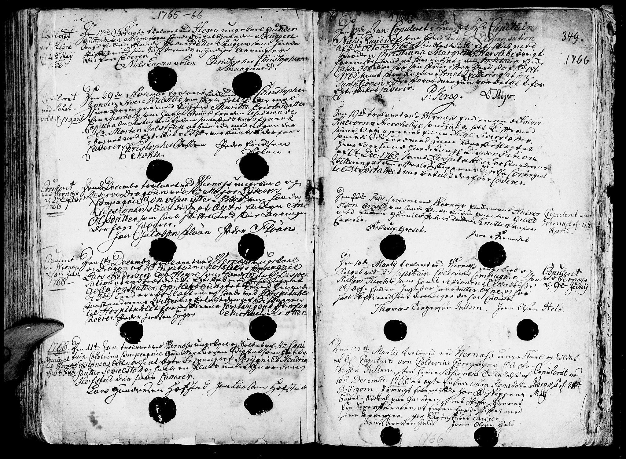 SAT, Ministerialprotokoller, klokkerbøker og fødselsregistre - Nord-Trøndelag, 709/L0057: Ministerialbok nr. 709A05, 1755-1780, s. 349