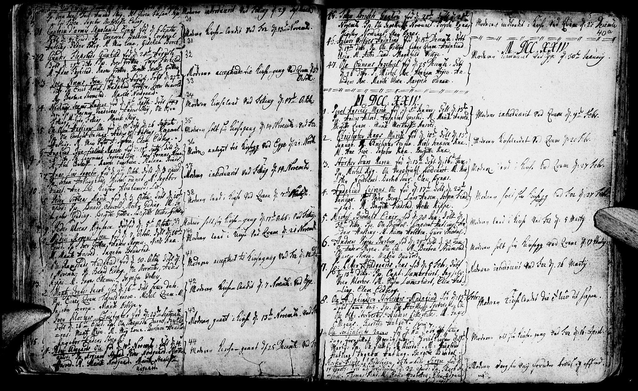 SAT, Ministerialprotokoller, klokkerbøker og fødselsregistre - Nord-Trøndelag, 746/L0439: Ministerialbok nr. 746A01, 1688-1759, s. 40b