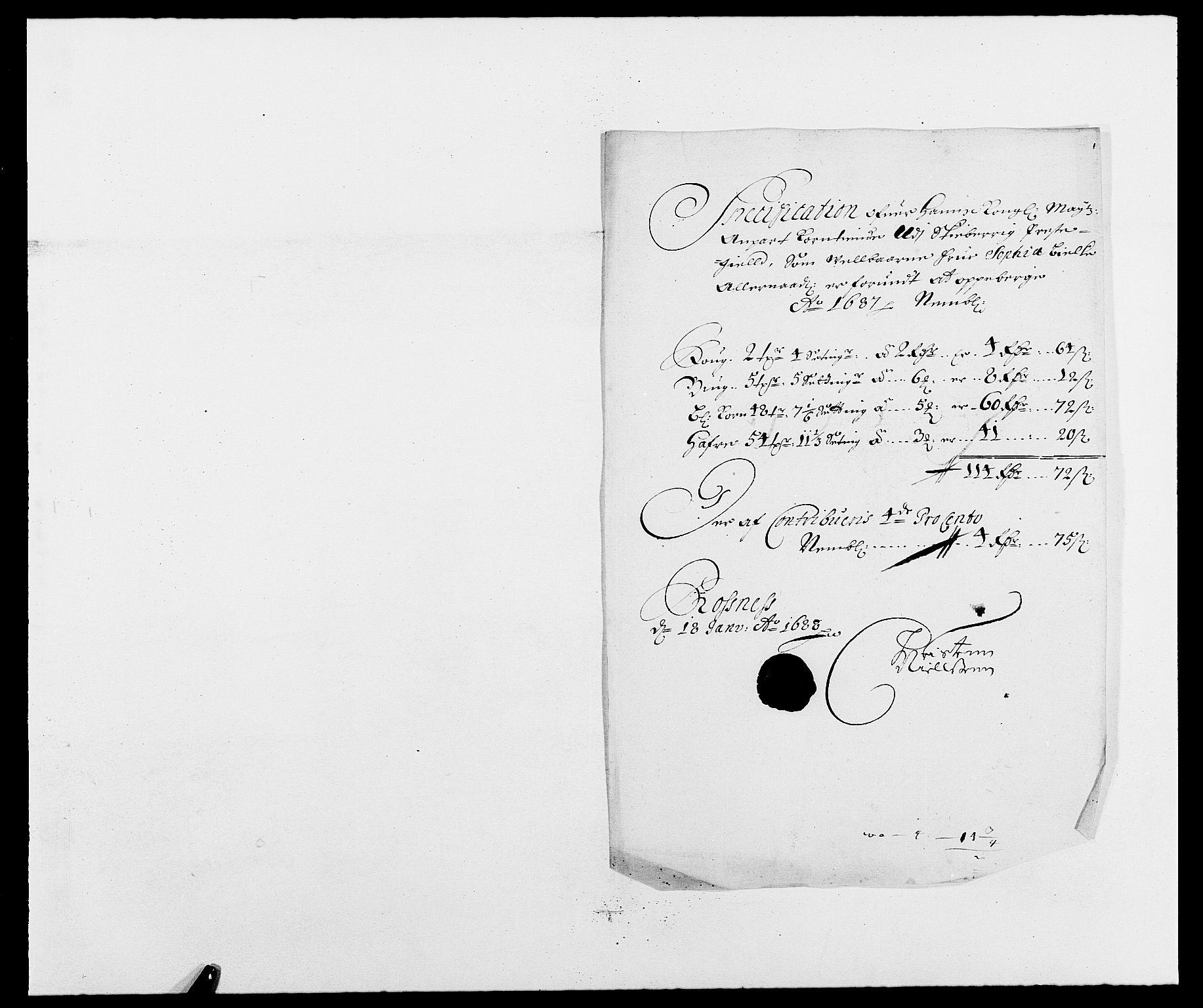 RA, Rentekammeret inntil 1814, Reviderte regnskaper, Fogderegnskap, R01/L0007: Fogderegnskap Idd og Marker, 1687-1688, s. 197