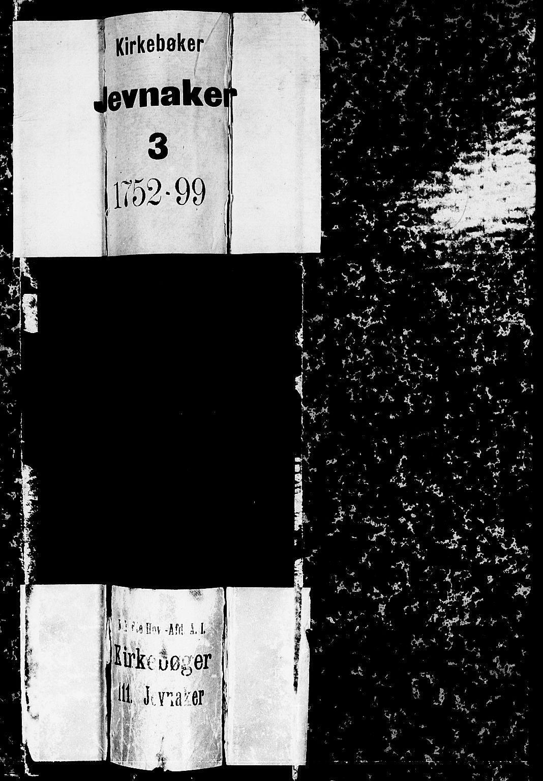 SAH, Jevnaker prestekontor, Ministerialbok nr. 3, 1752-1799