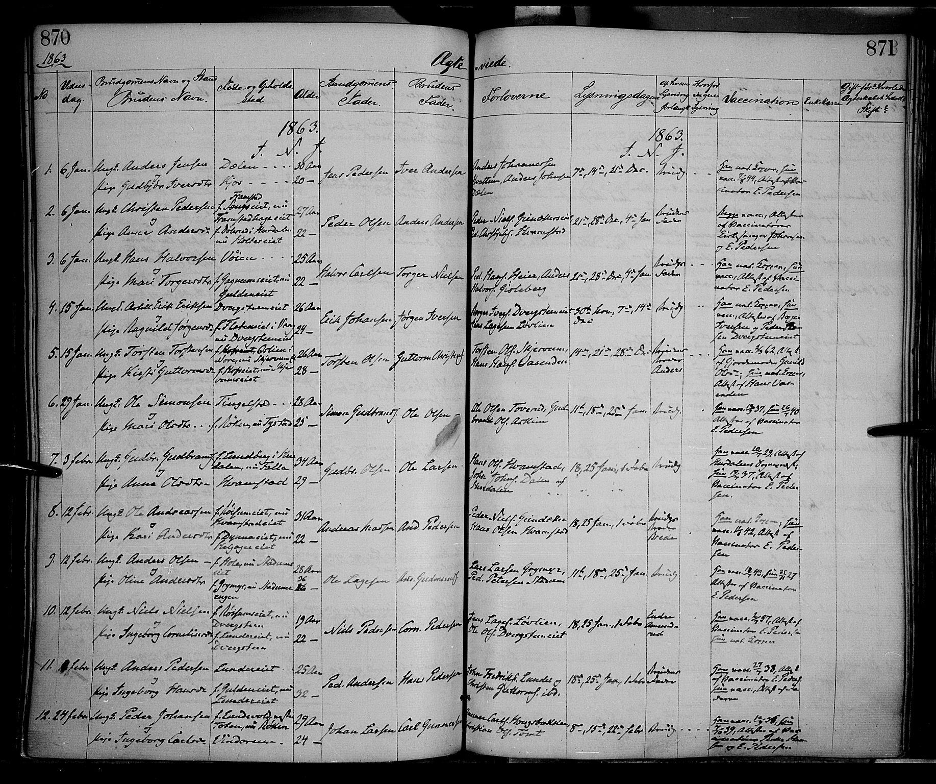 SAH, Gran prestekontor, Ministerialbok nr. 12, 1856-1874, s. 870-871