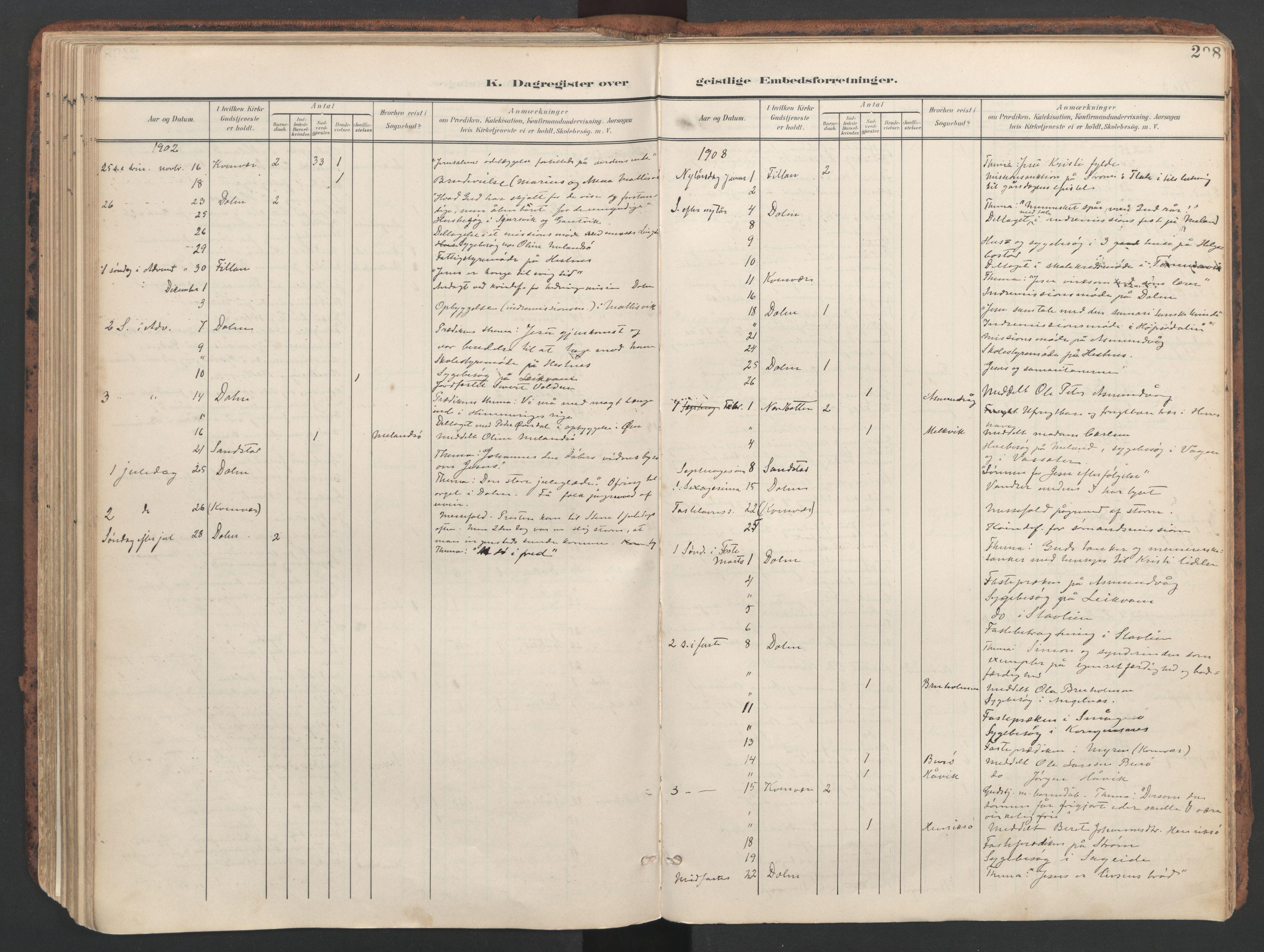 SAT, Ministerialprotokoller, klokkerbøker og fødselsregistre - Sør-Trøndelag, 634/L0537: Ministerialbok nr. 634A13, 1896-1922, s. 208