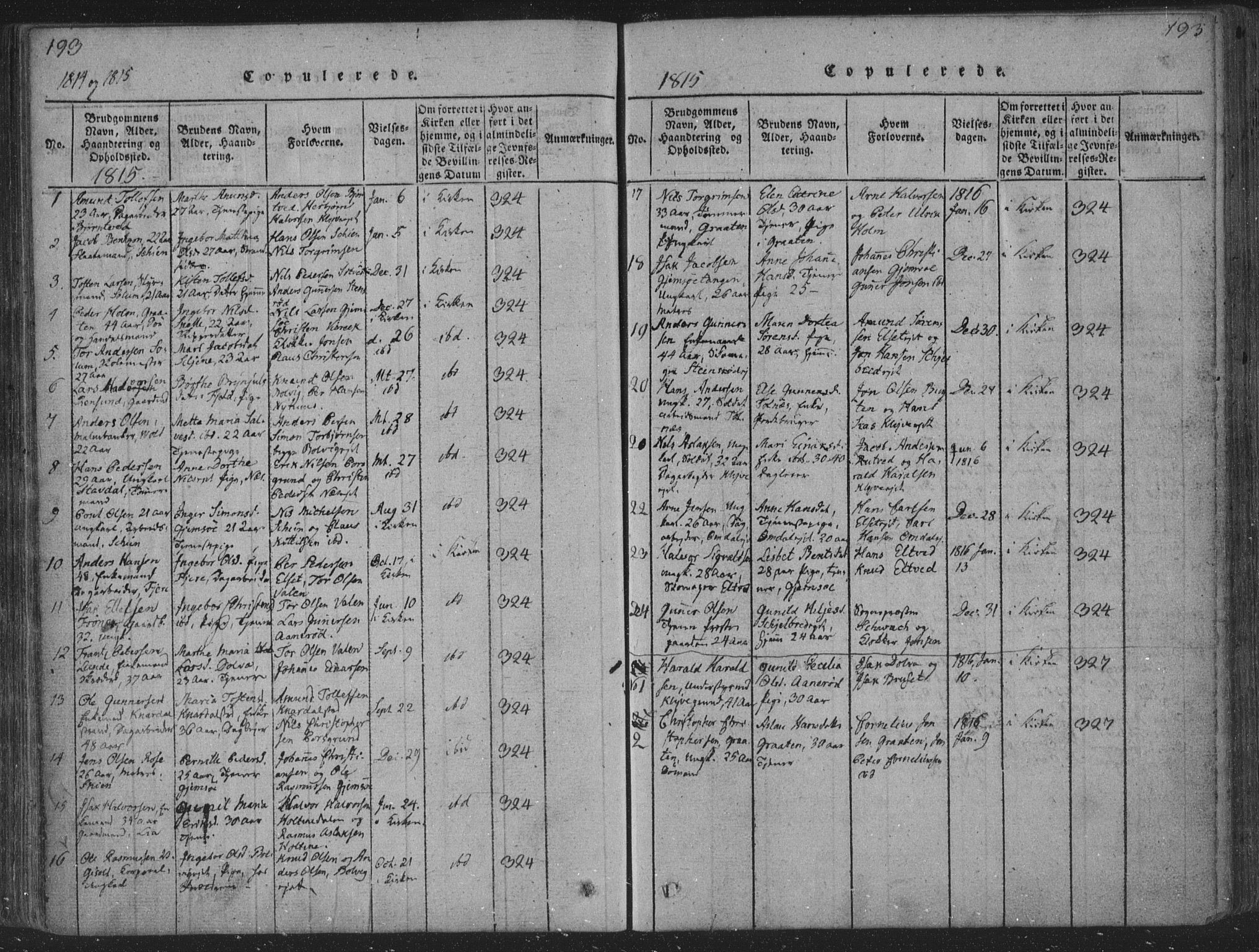 SAKO, Solum kirkebøker, F/Fa/L0004: Ministerialbok nr. I 4, 1814-1833, s. 193