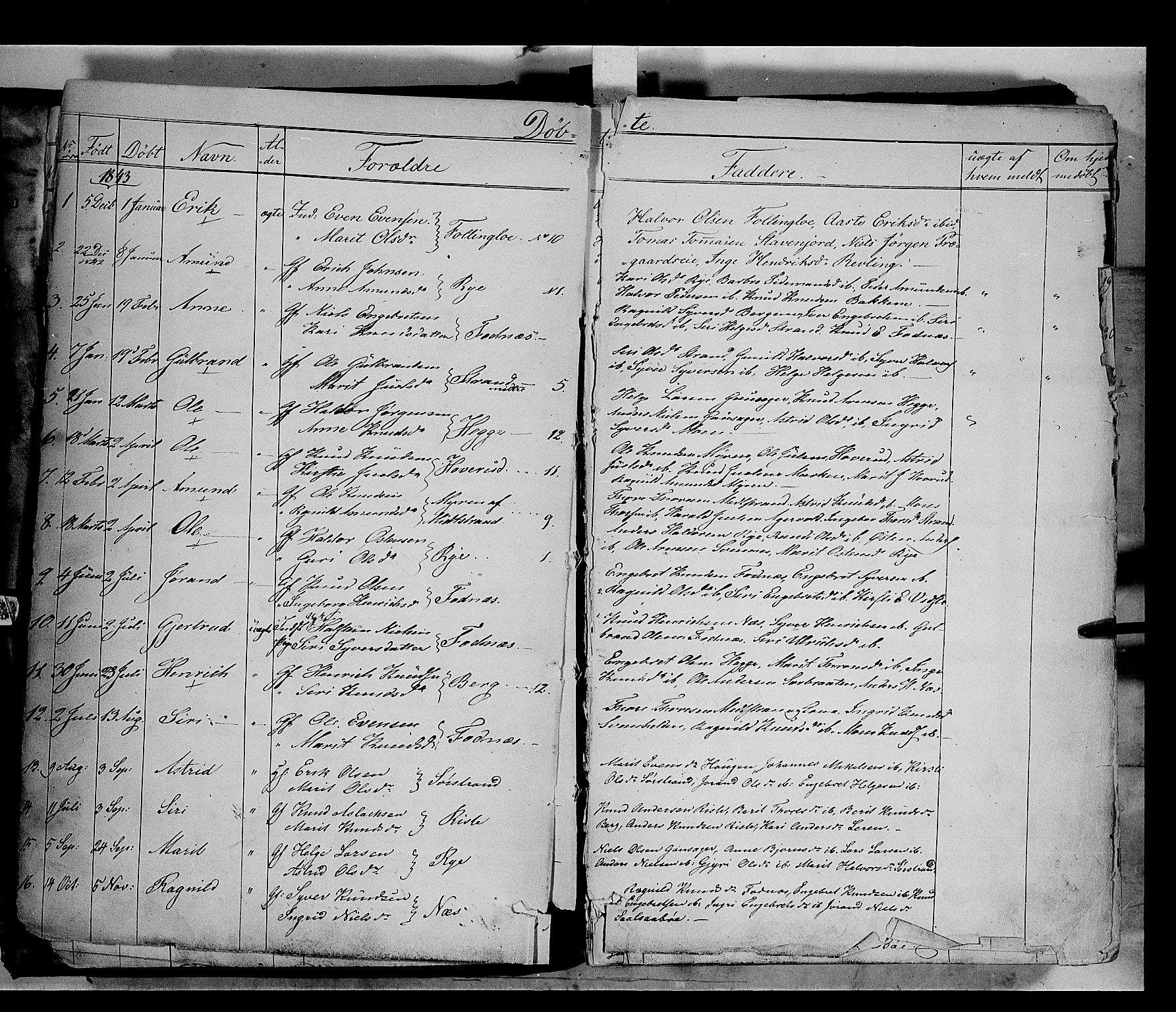 SAH, Nord-Aurdal prestekontor, Ministerialbok nr. 5, 1842-1863, s. 4