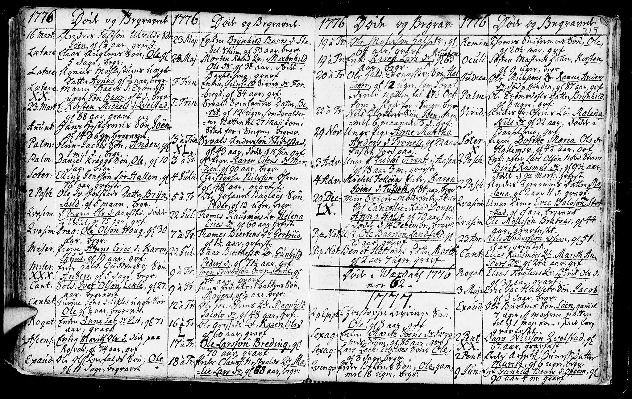 SAT, Ministerialprotokoller, klokkerbøker og fødselsregistre - Nord-Trøndelag, 723/L0231: Ministerialbok nr. 723A02, 1748-1780, s. 319