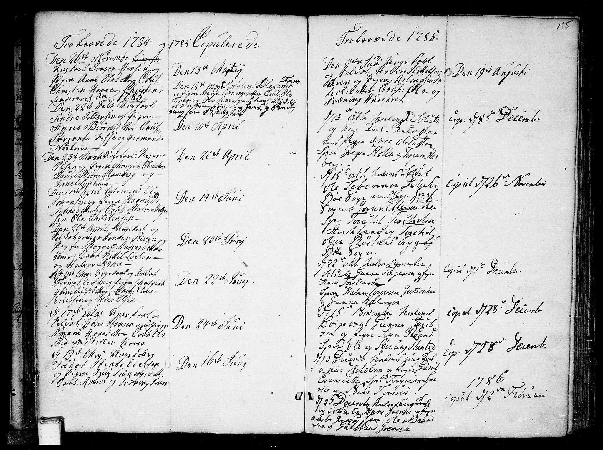 SAKO, Heddal kirkebøker, F/Fa/L0004: Ministerialbok nr. I 4, 1784-1814, s. 155