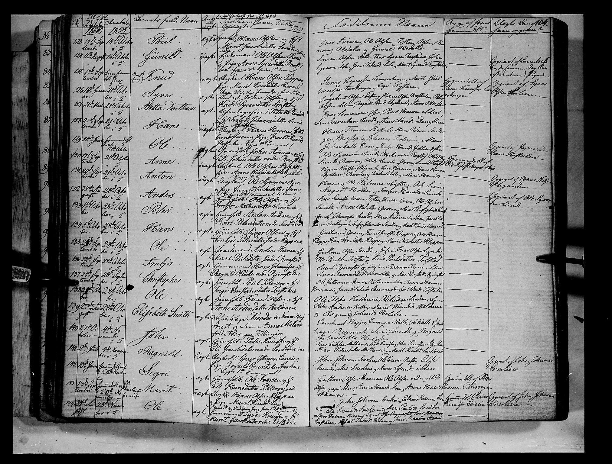 SAH, Vågå prestekontor, Ministerialbok nr. 5 /1, 1842-1856, s. 104